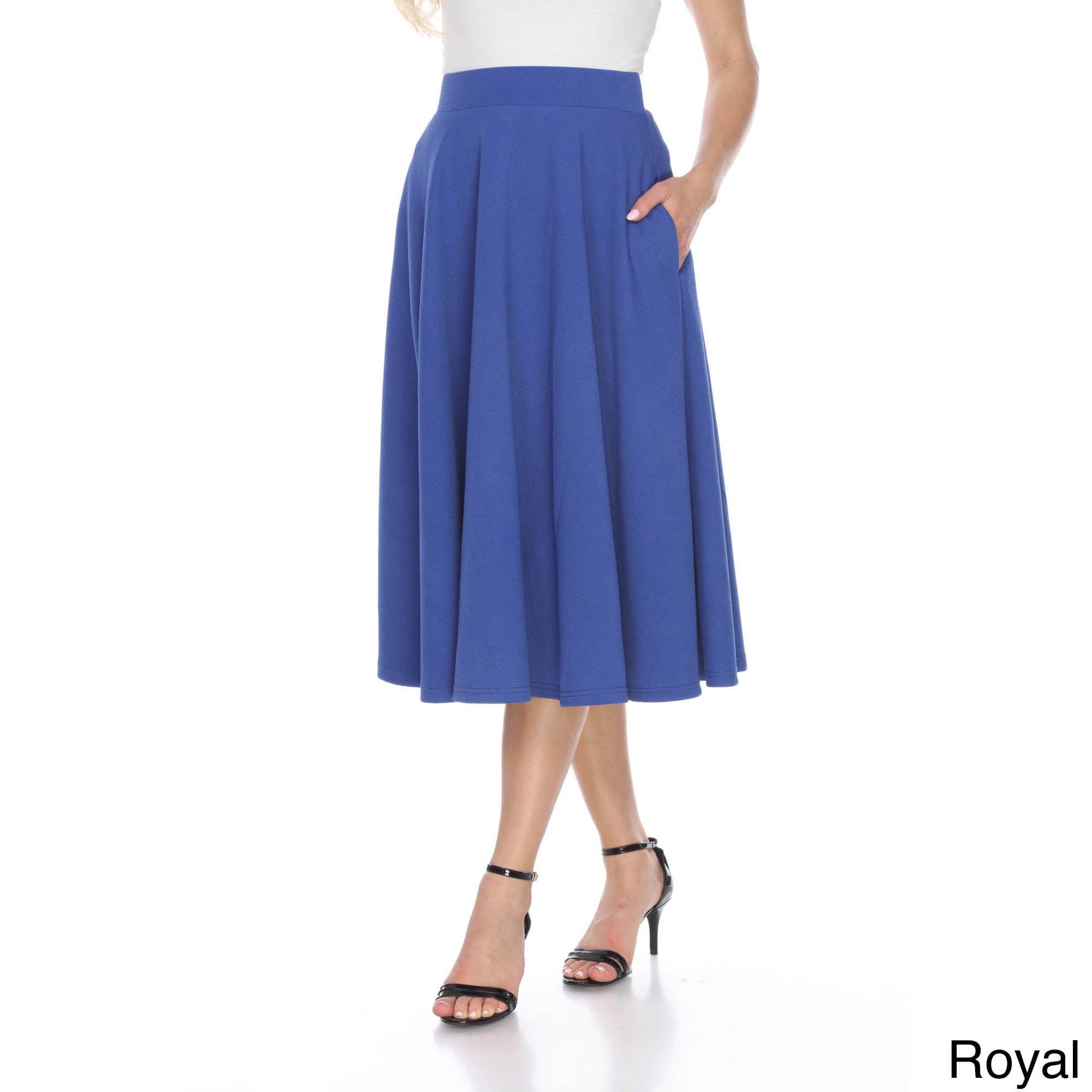 1e1481d3776 Shop White Mark Women s Tasmin Flared Midi Skirt - Free Shipping On Orders  Over  45 - Overstock - 12046980