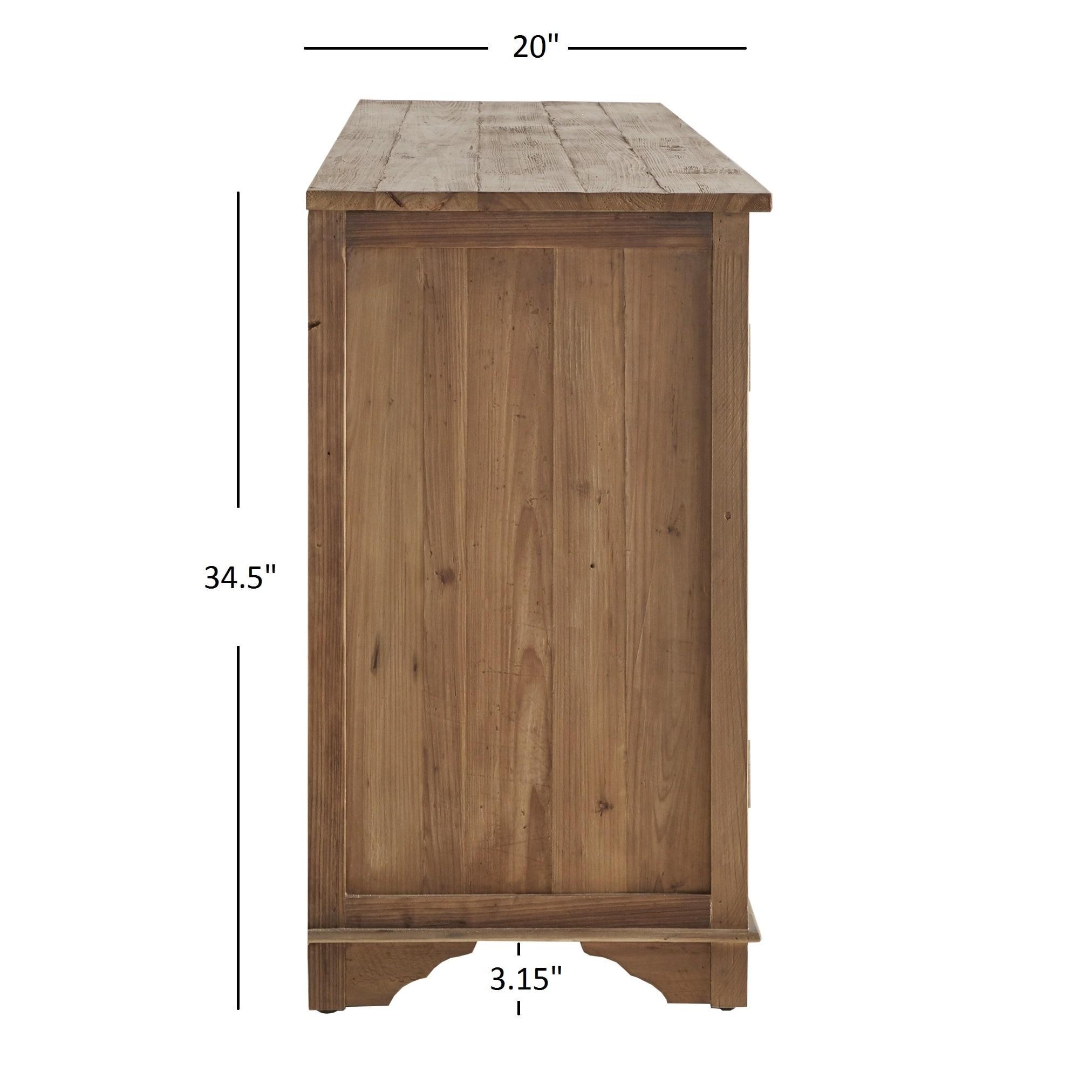 Unique Hamptons Quatrefoil Reclaimed Wood Mirrored Buffet Sideboard  CB73