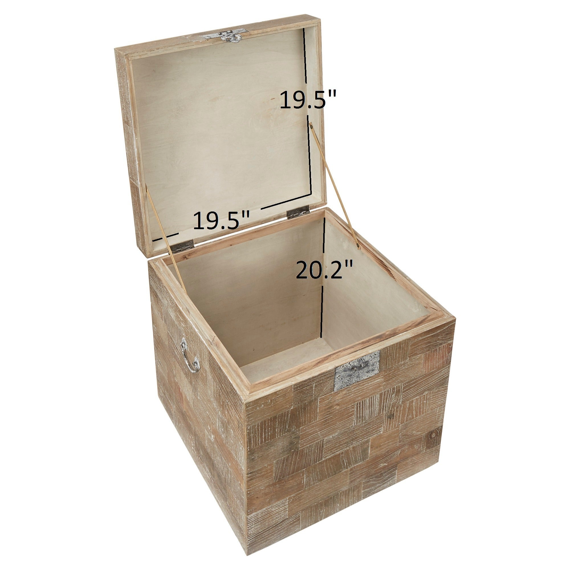 Tucker Reclaimed Wood Patchwork Storage Trunk Chest Side Table By Inspire Q On Free Shipping Today 12047253
