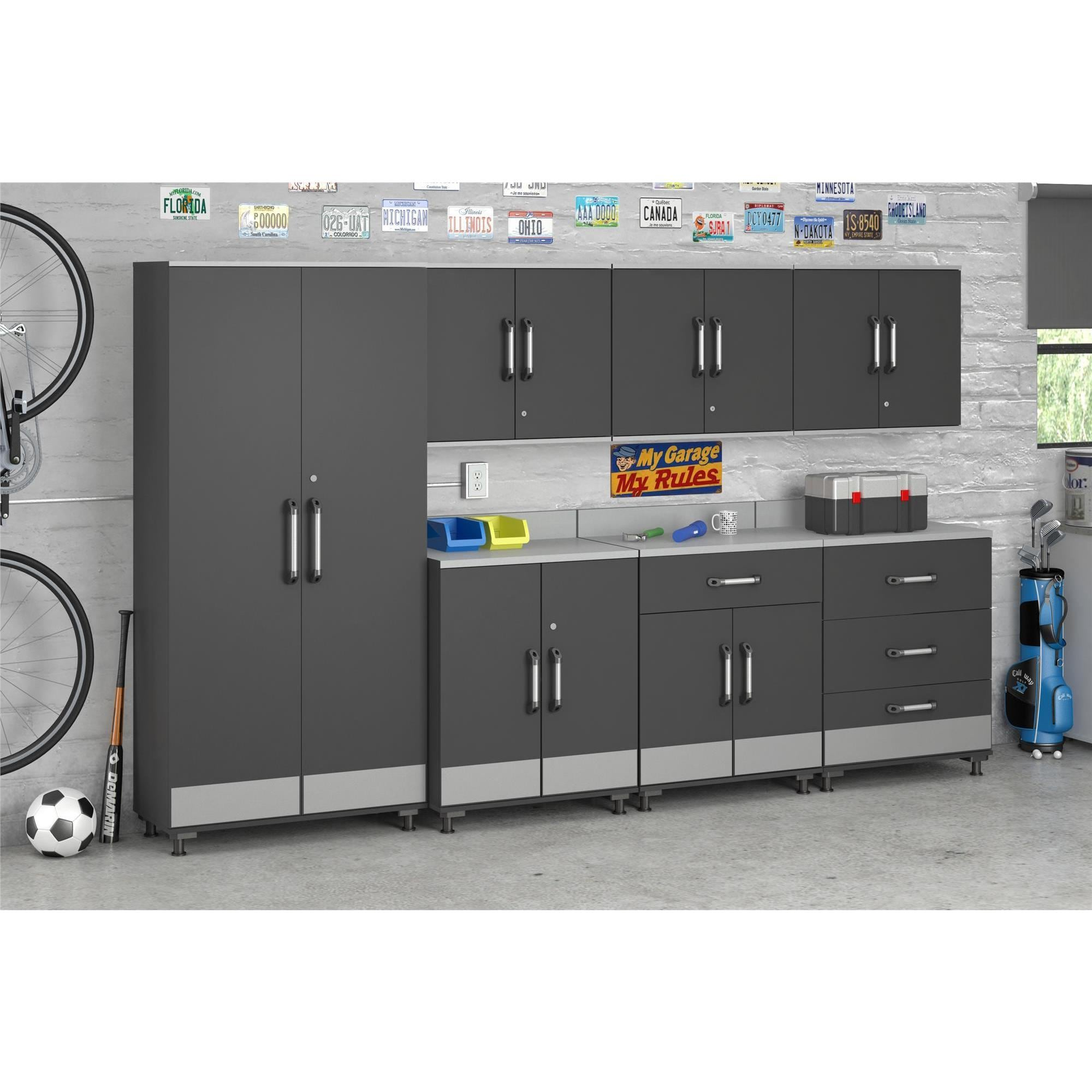 Systembuild Boss Steel Grey Wall Cabinet Free Shipping Today 12048206