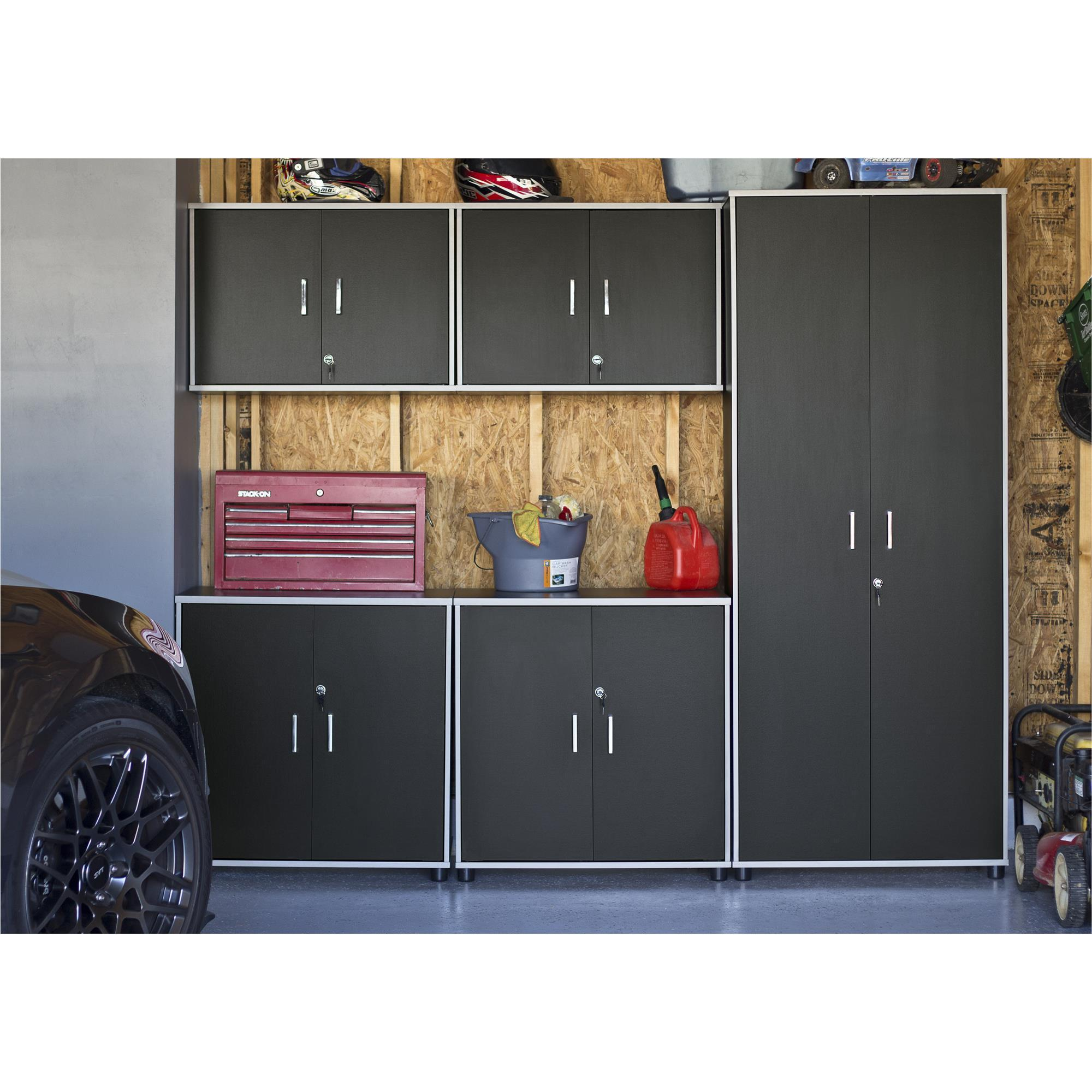 Altra Systembuild Apollo Black Tall Cabinet Free Shipping Today 12048208