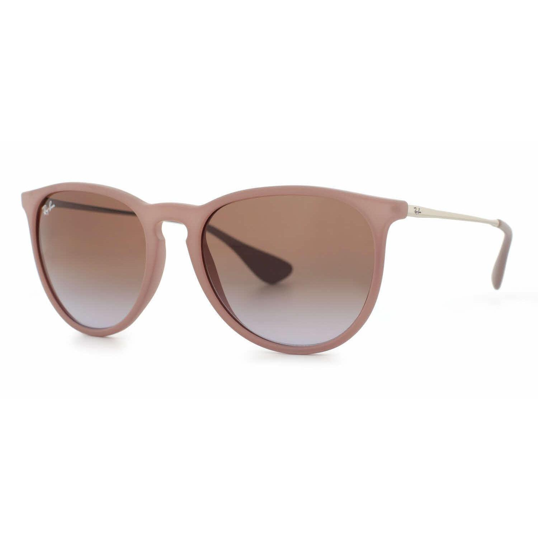 5a3bd86ce7 RayBan Women's 54MM Erika Wayfarer Sunglasses (Rubber Sand Frame/Brown  Violet Gradient Lens). by Ray-Ban