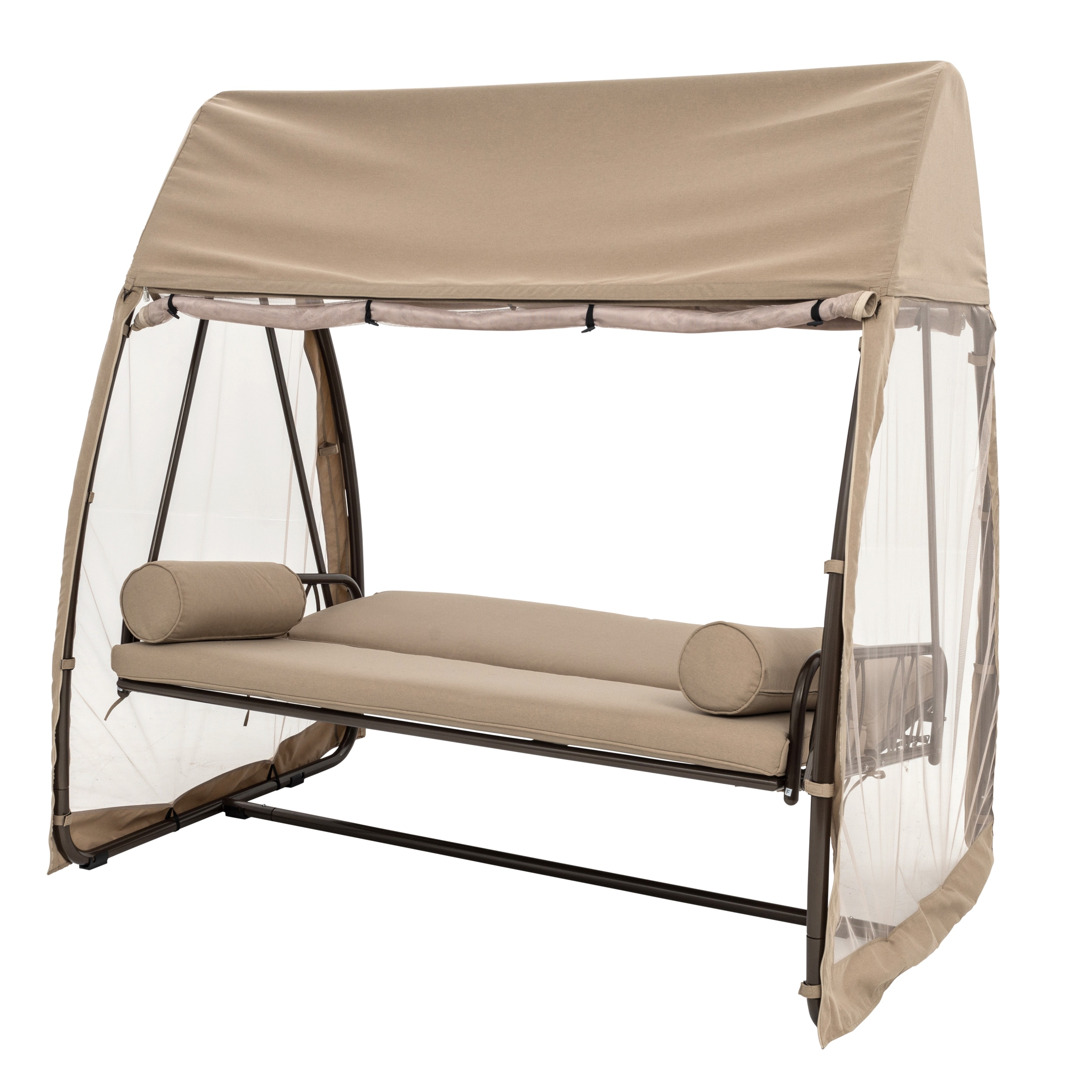swing bed seater metal outdoor hammock bench var westwood garden chair itm shelter