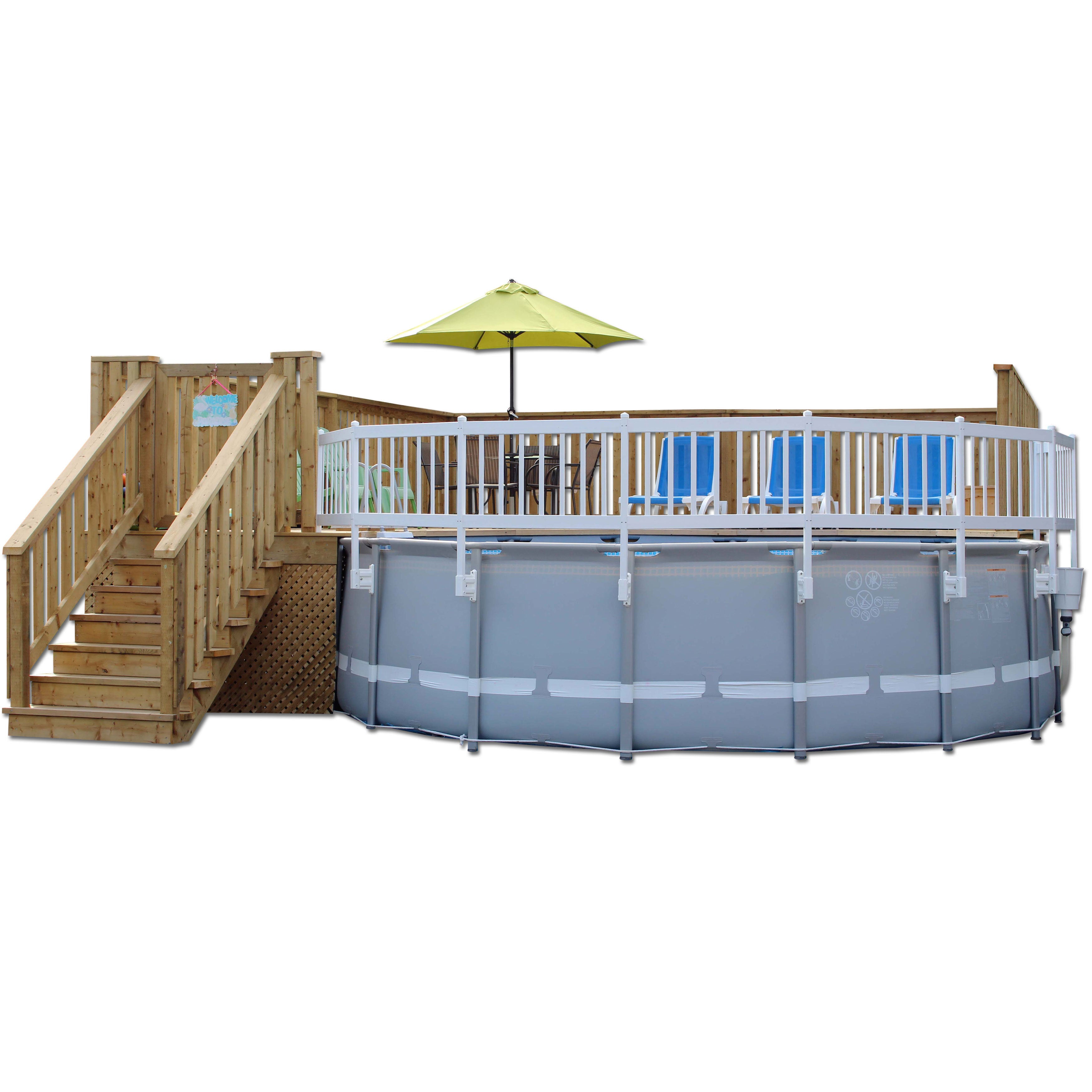 Shop Vinyl Works Taupe Resin 24 Inch 8 Section Above Ground Pool