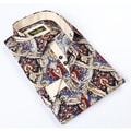 Banana Lemon Classic Button-down Paisley Multi Stripe Dress Shirt