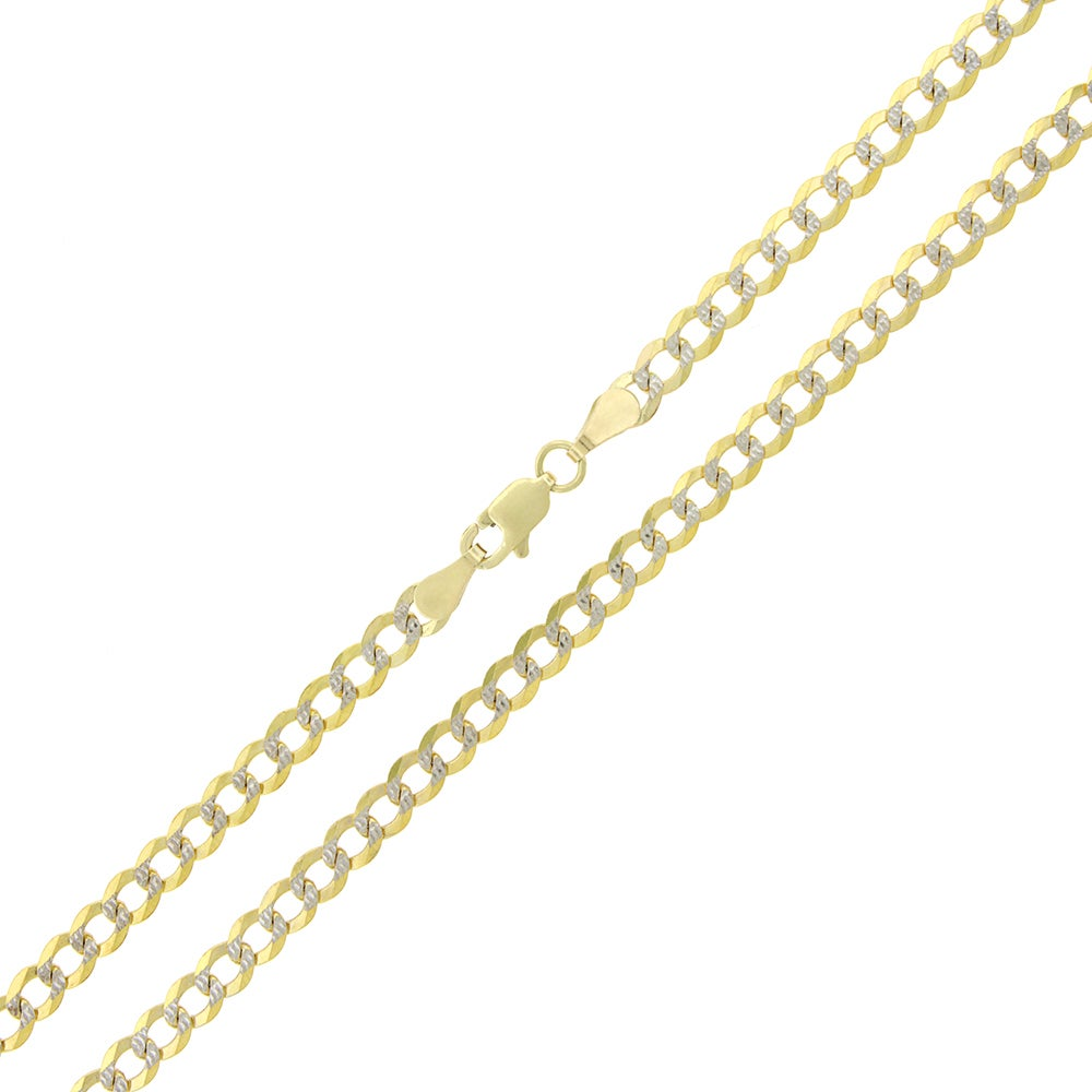 65674f1497002 10k Yellow Gold 3.5mm Solid Cuban Curb Necklace