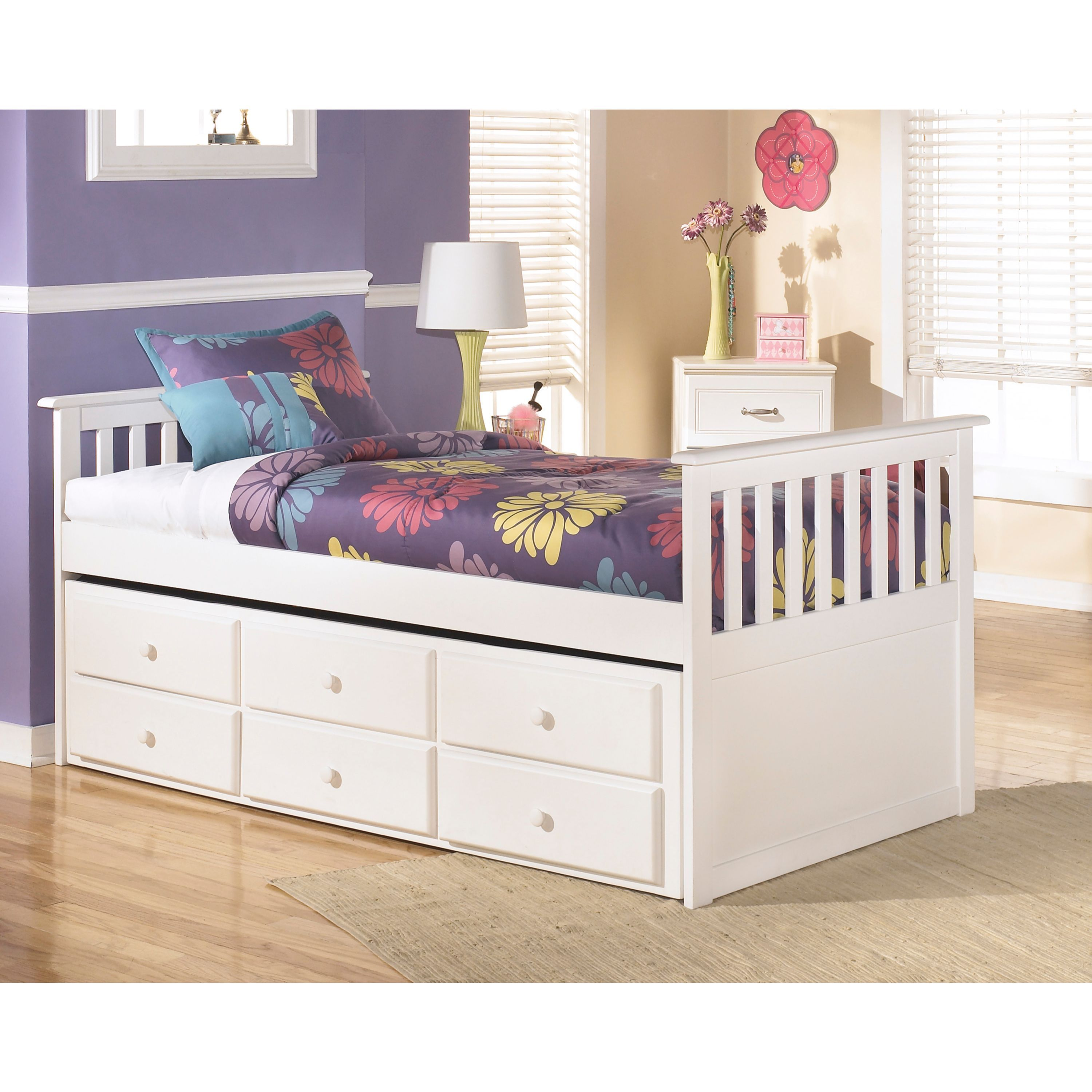 painted pin child s design finish bed sleeping bedroom in twin white its two trundle your this sleigh with create featuring a beautifully drawers space works for