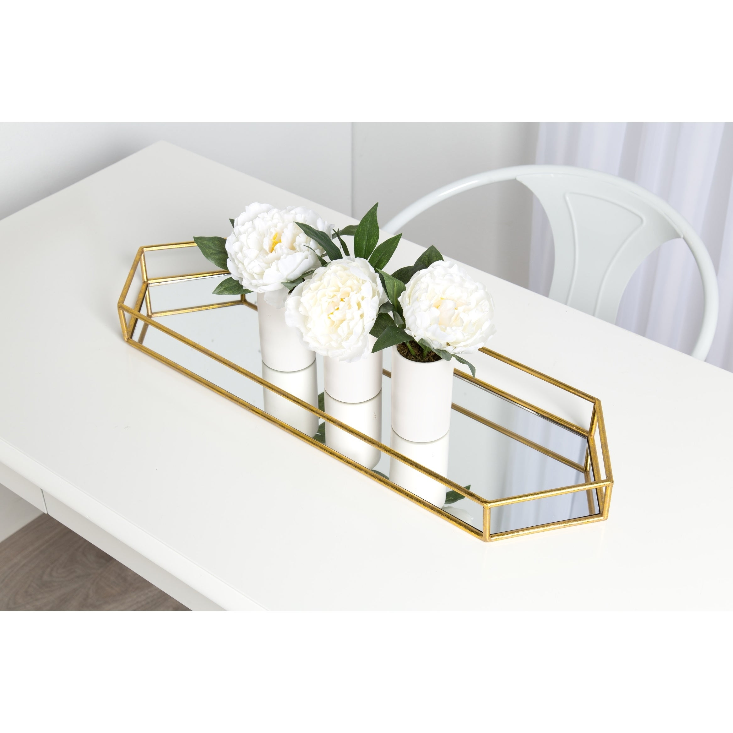 Kate and Laurel Felicia Decorative Mirrored Tray Free Shipping