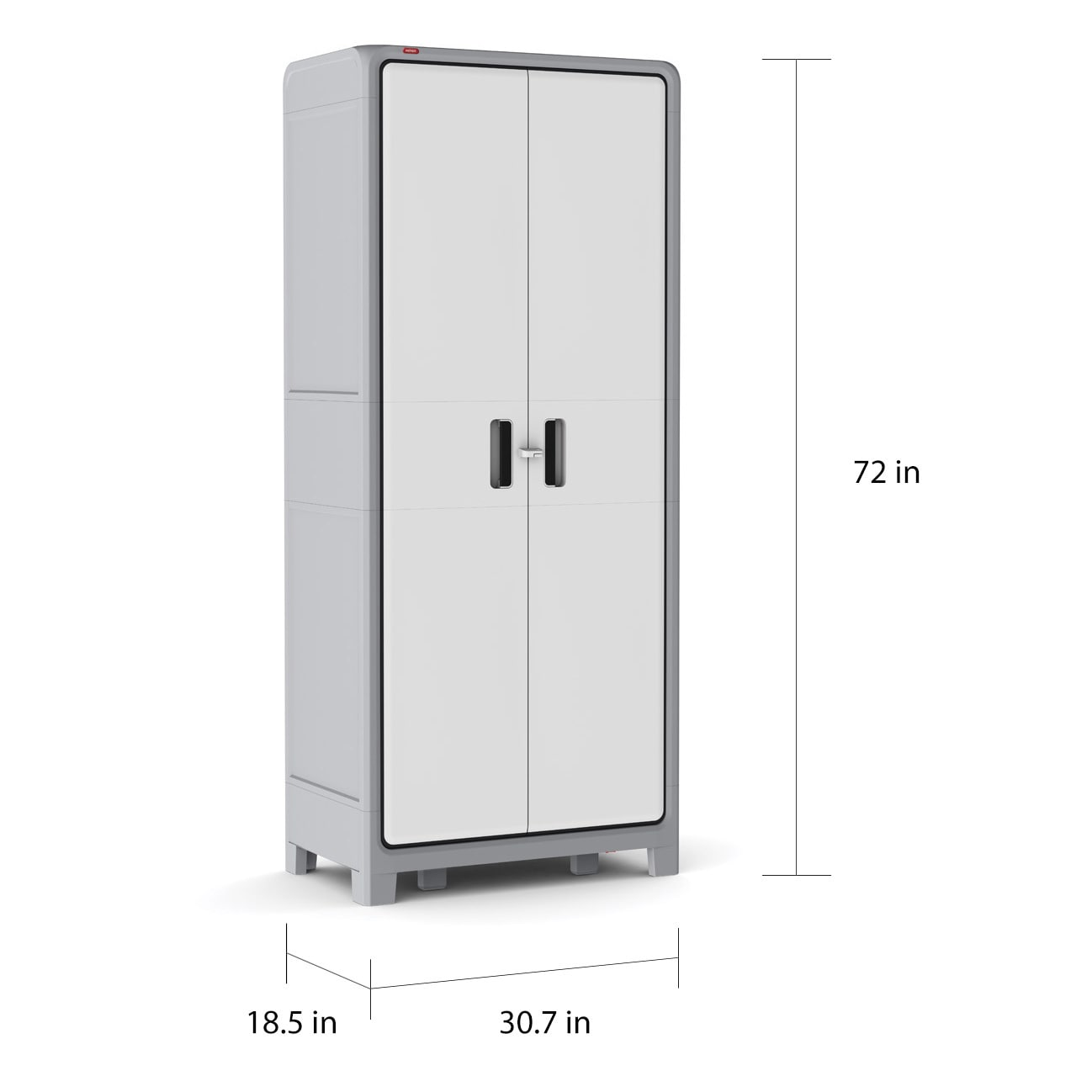 Shop Keter Optima Wonder White And Grey Plastic Freestanding Utility Cabinet    Free Shipping Today   Overstock.com   12056988