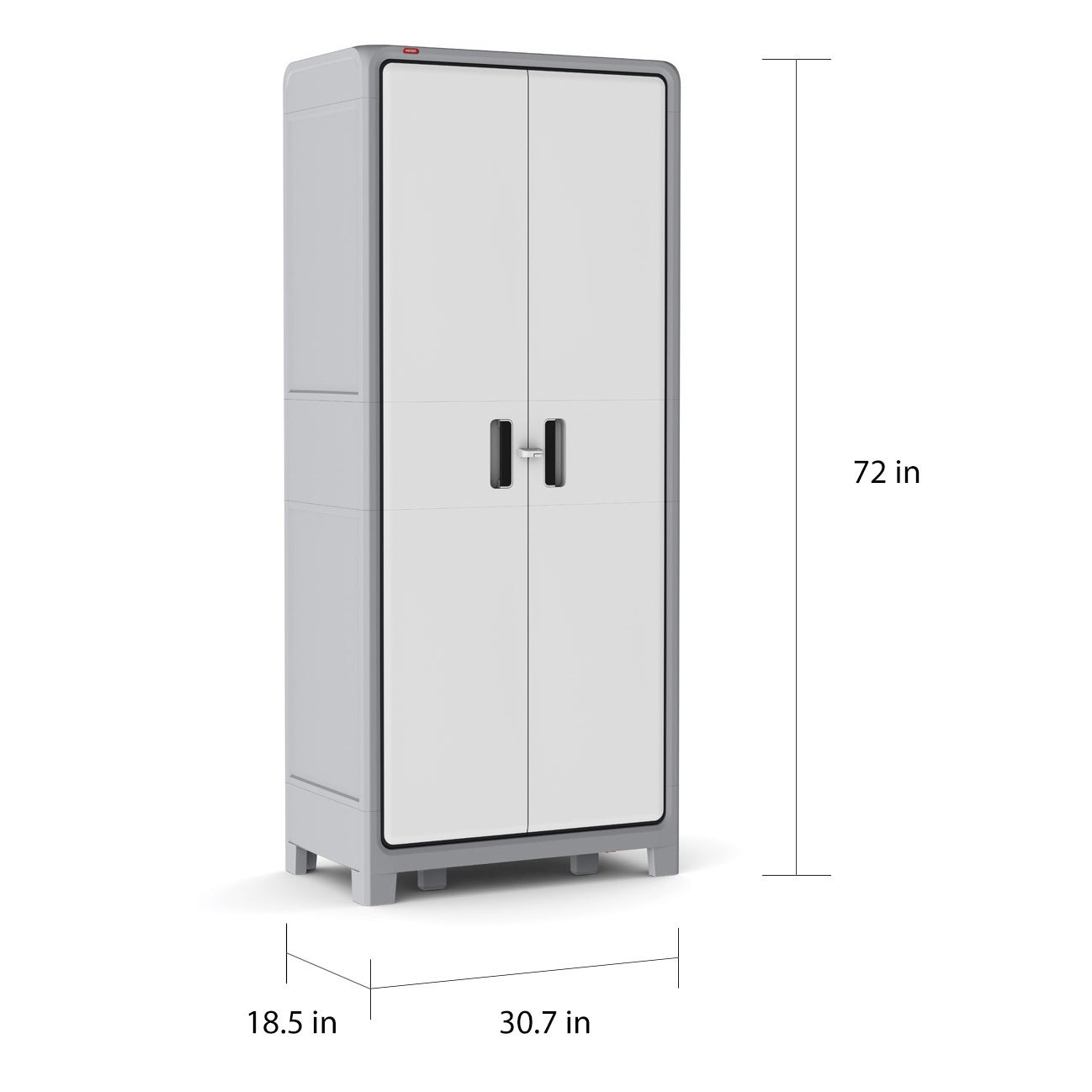 Keter Optima Wonder White And Grey Plastic Freestanding Utility Cabinet Free Shipping Today 12056988