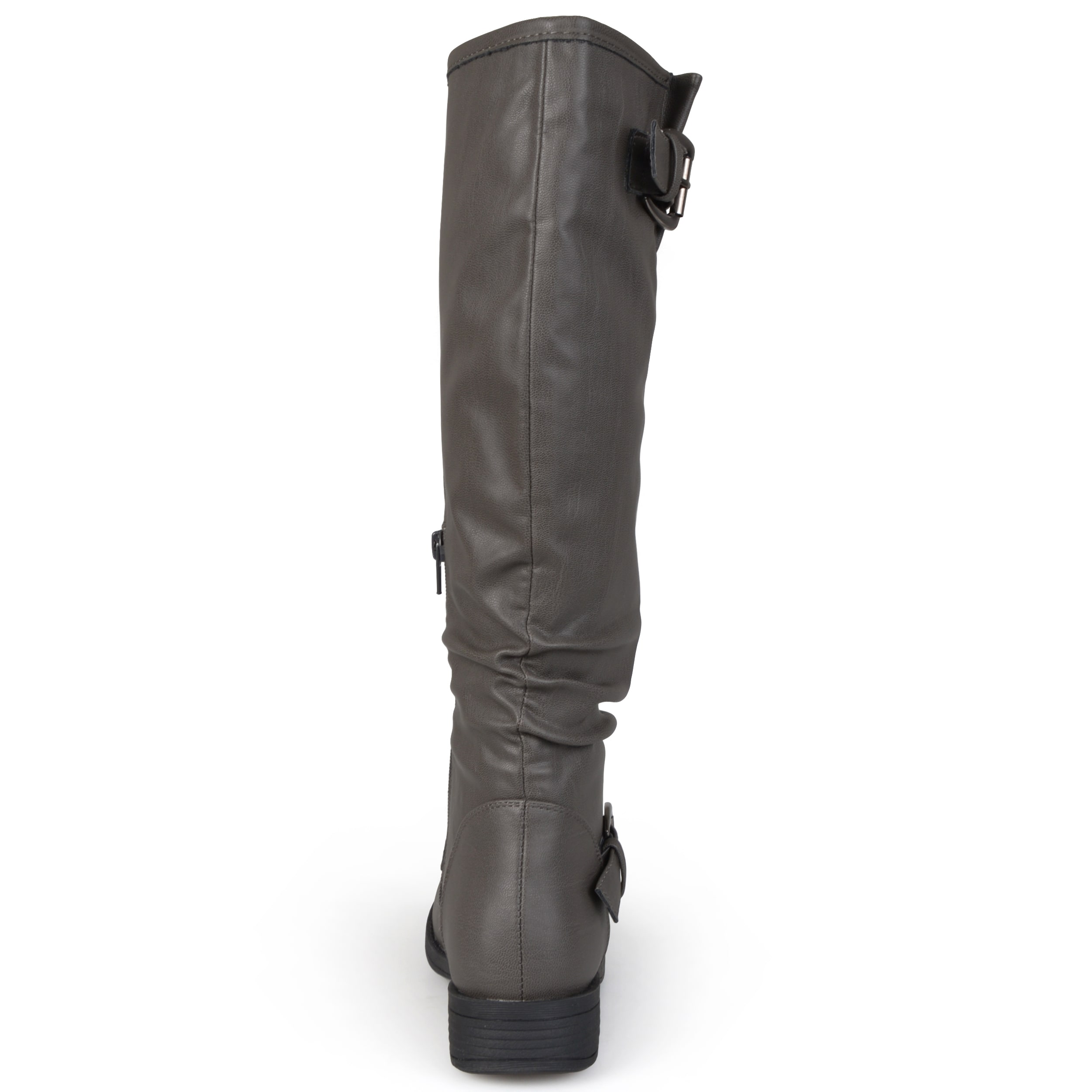 741371b8d8f5 Shop Journee Collection Women s Extra Wide-Calf  Stormy  Knee-High Buckle Riding  Boot - On Sale - Free Shipping Today - Overstock - 12060793