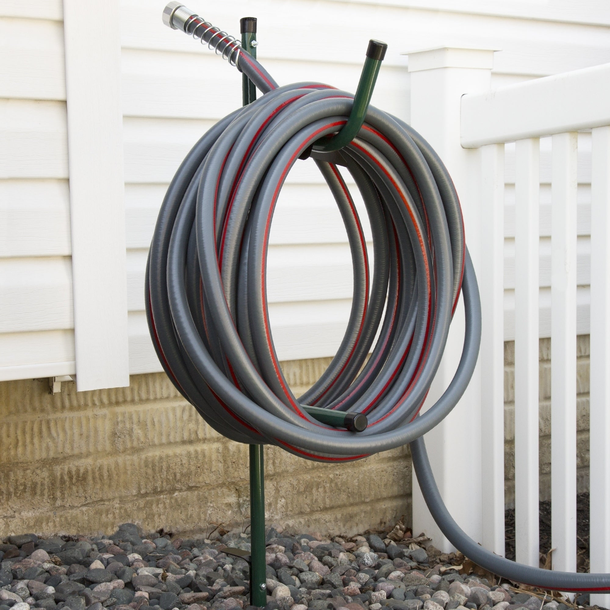 Shop Garden Hose Holder Caddy  Easy Install Outdoor Free Standing Metal Rack  For Hose Management By Stalwart   Free Shipping On Orders Over $45 ...