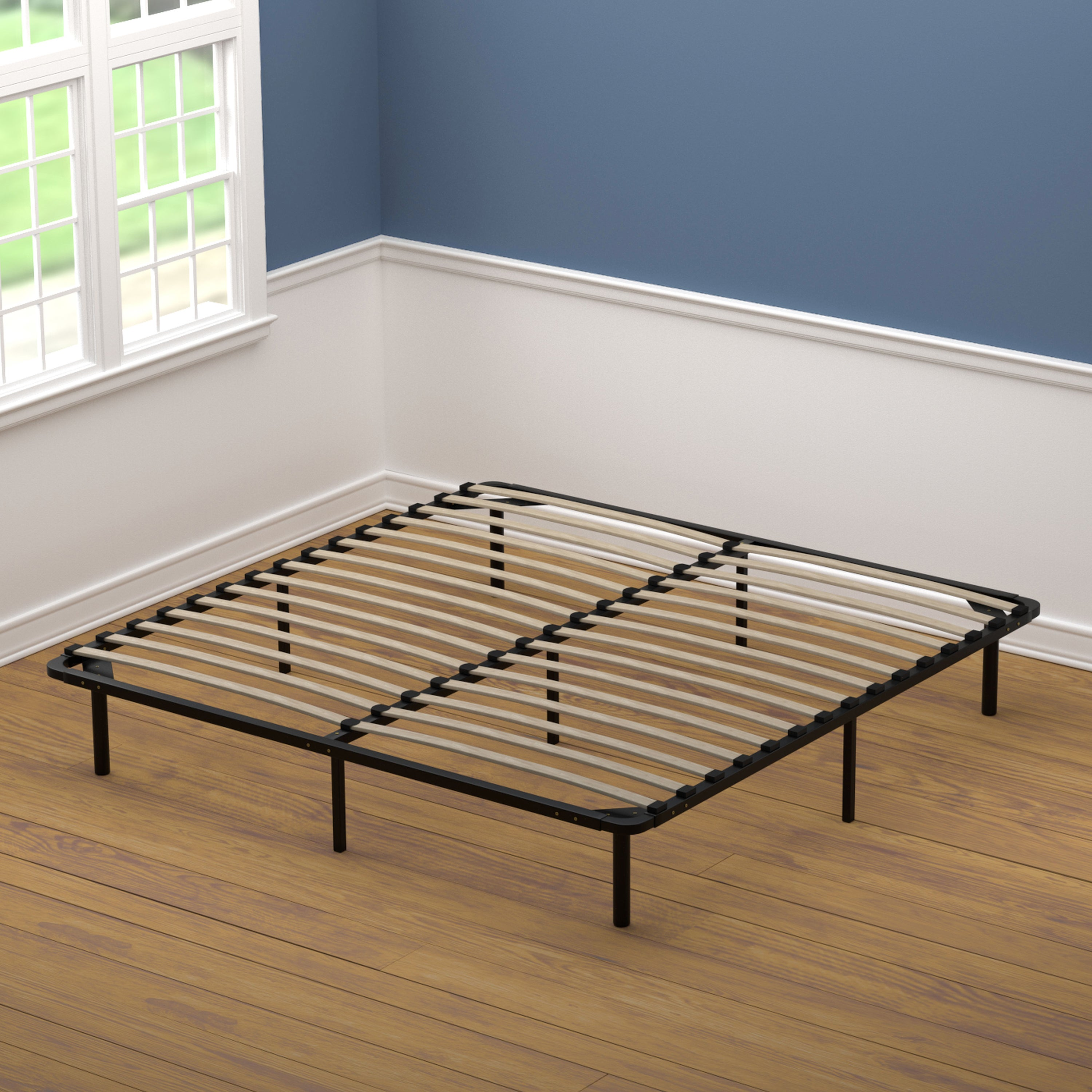 Shop Handy Living King Size Wood Slat Bed Frame Free Shipping