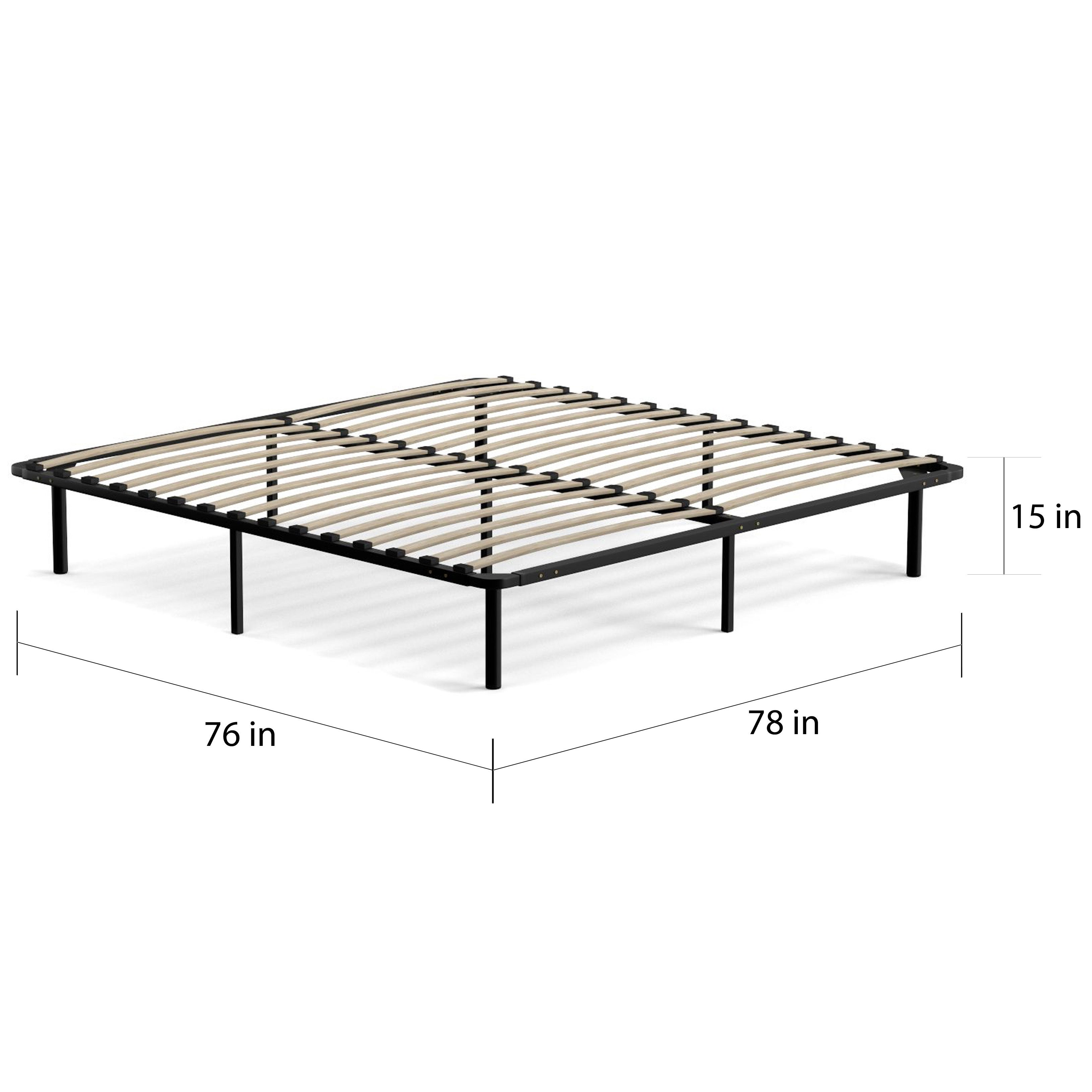 Handy Living King Size Wood Slat Bed Frame - Free Shipping Today ...