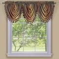 Achim ACHIM Ombre Waterfall Window Curtain Valance