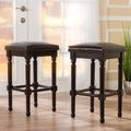 Osvald 31-inch Studded Bonded Leather Barstool (Set of 2) by Christopher Knight Home