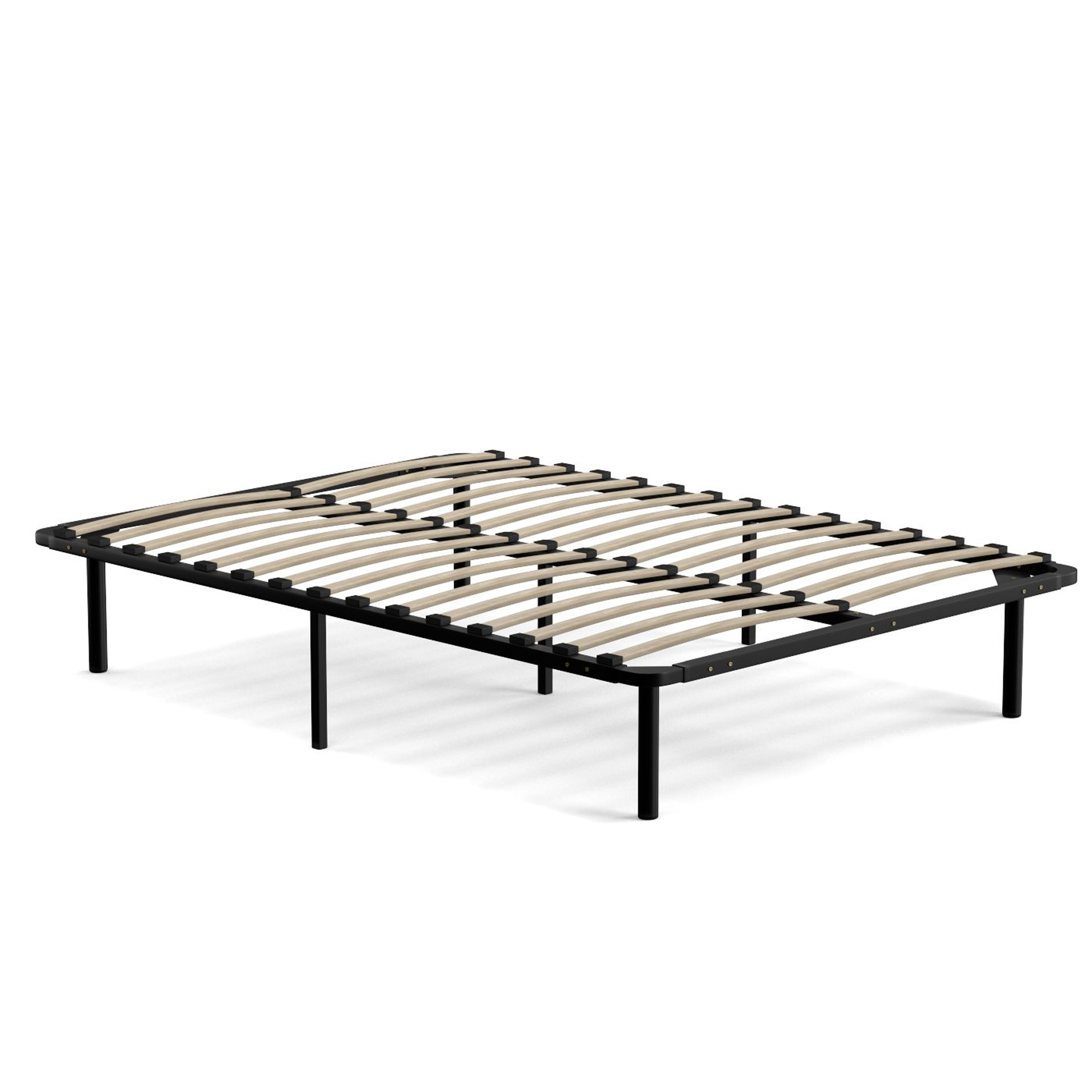 Handy Living Full Size Wood Slat Bed Frame On Free Shipping Today 12063121