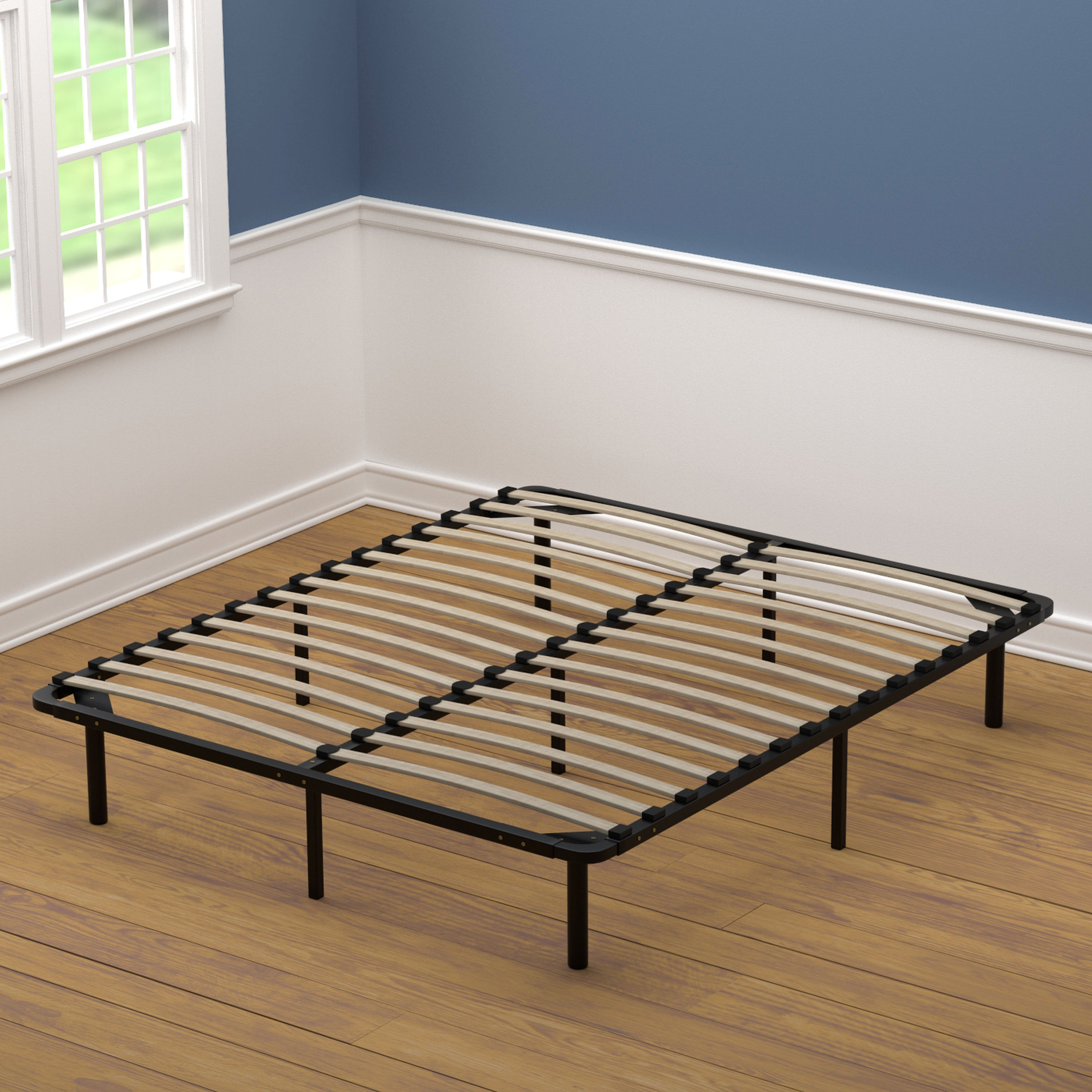 Shop Handy Living Queen Size Wood Slat Bed Frame On Sale Free