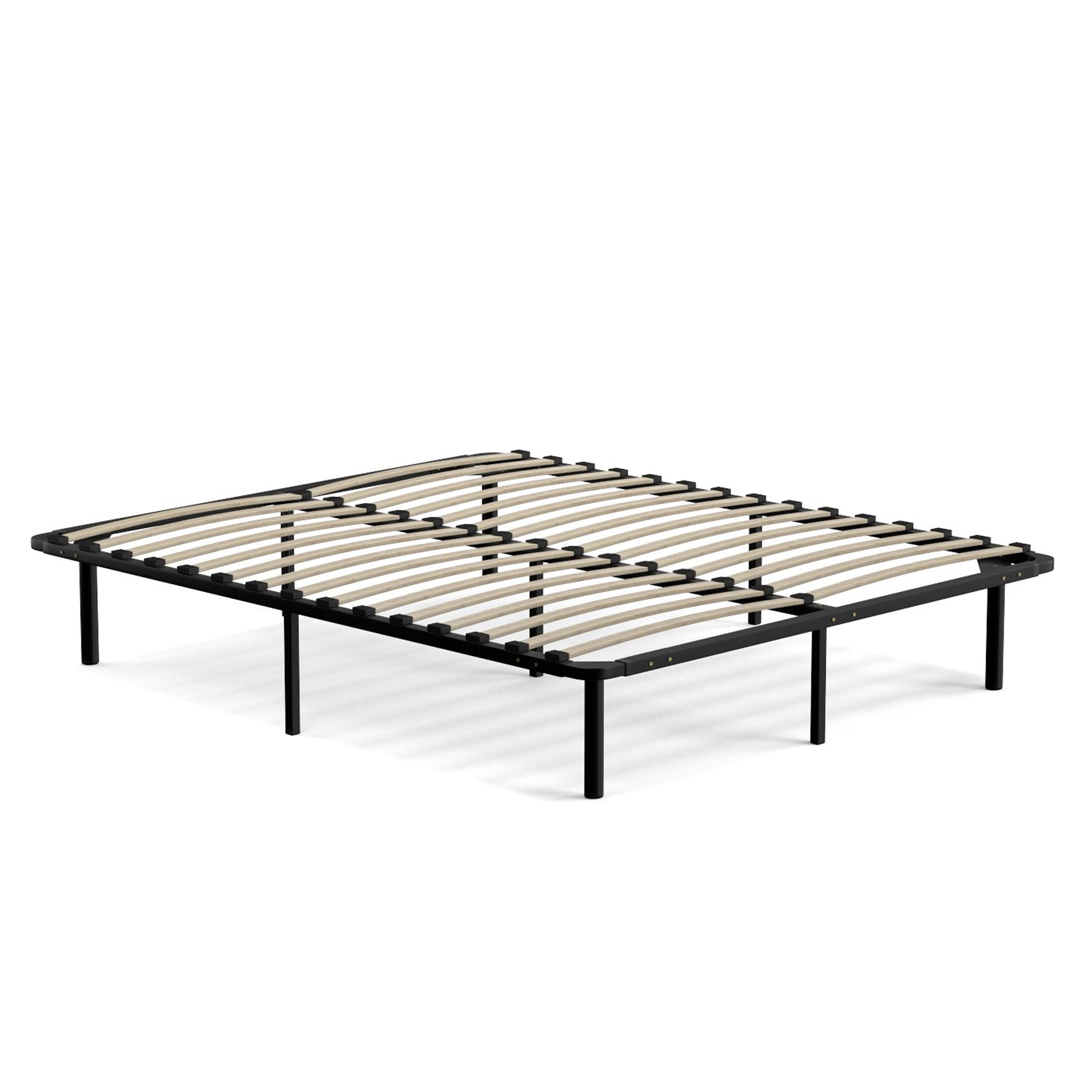 handy living queen size wood slat bed frame free shipping today overstockcom 18932176 - Wood Slat Bed Frame Queen