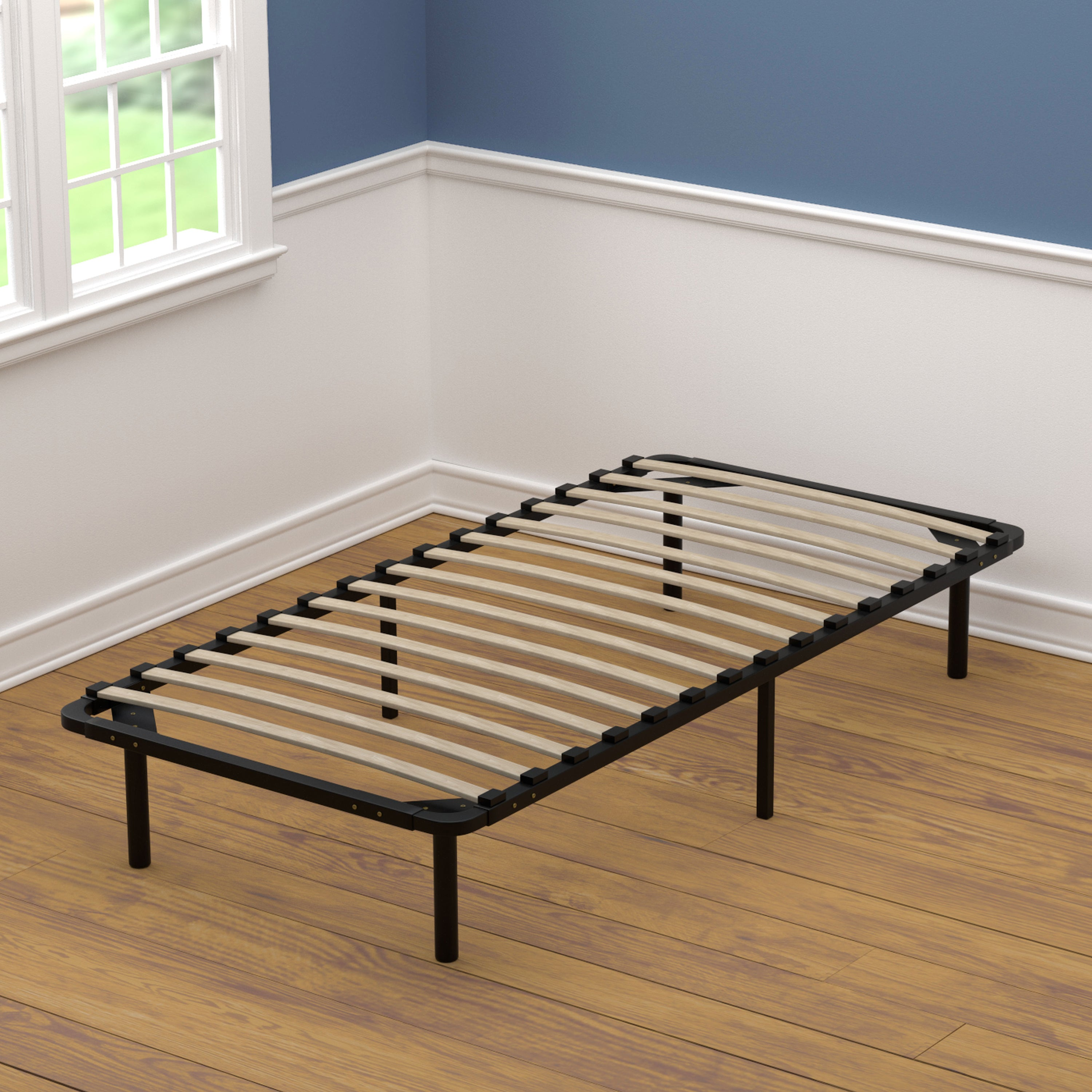 Handy Living Xl Twin Size Wood Slat Bed Frame On Free Shipping Today 12063139