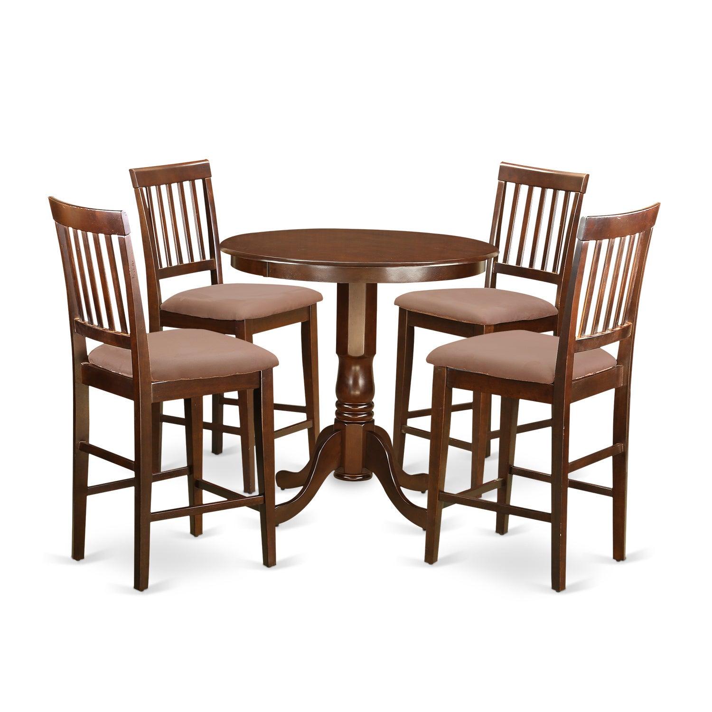 Shop Javn5 Mah Mahogany Rubberwood Five Piece Pub Table Set
