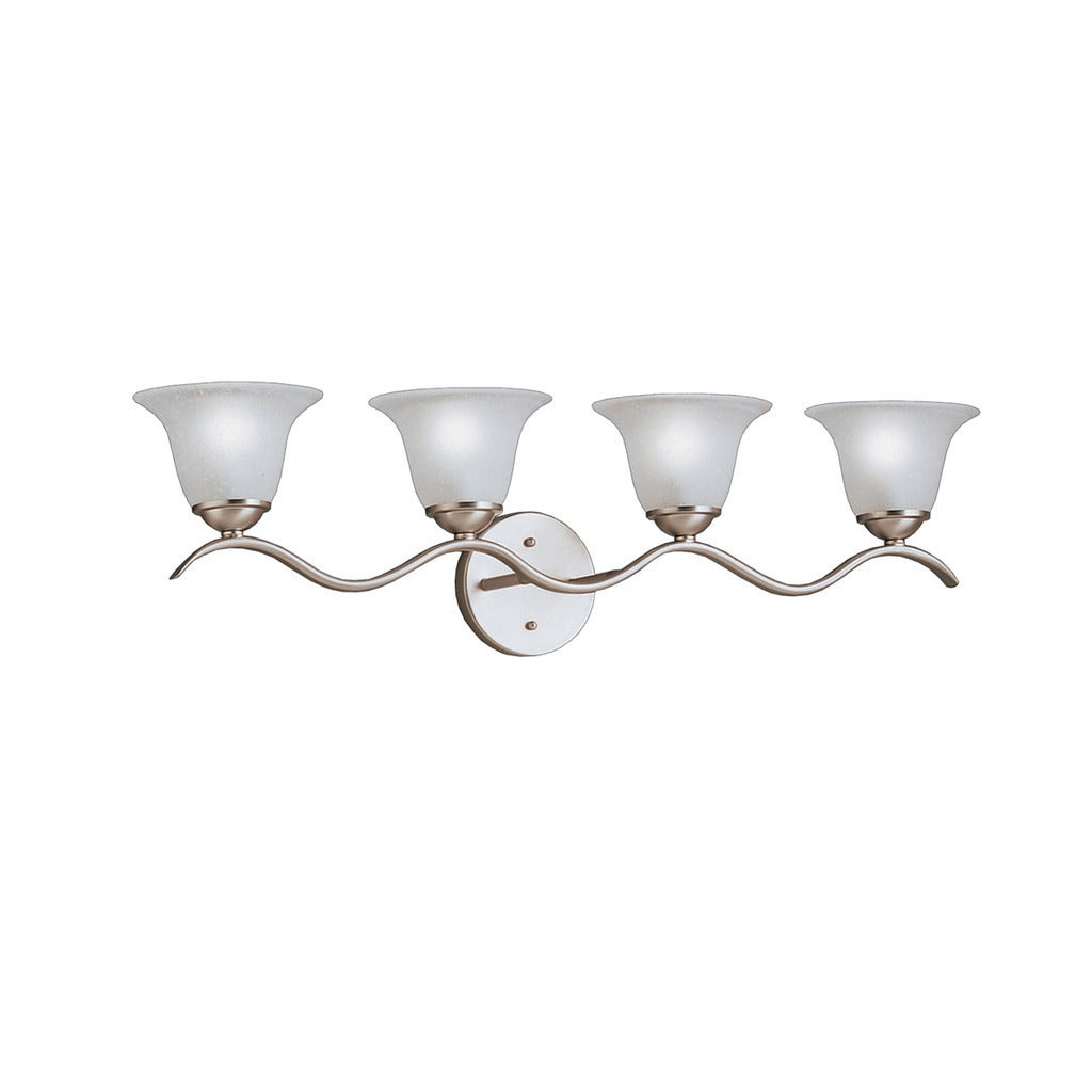 Kichler lighting dover collection 4 light brushed nickel bathvanity kichler lighting dover collection 4 light brushed nickel bathvanity light free shipping today overstock 18933093 arubaitofo Images