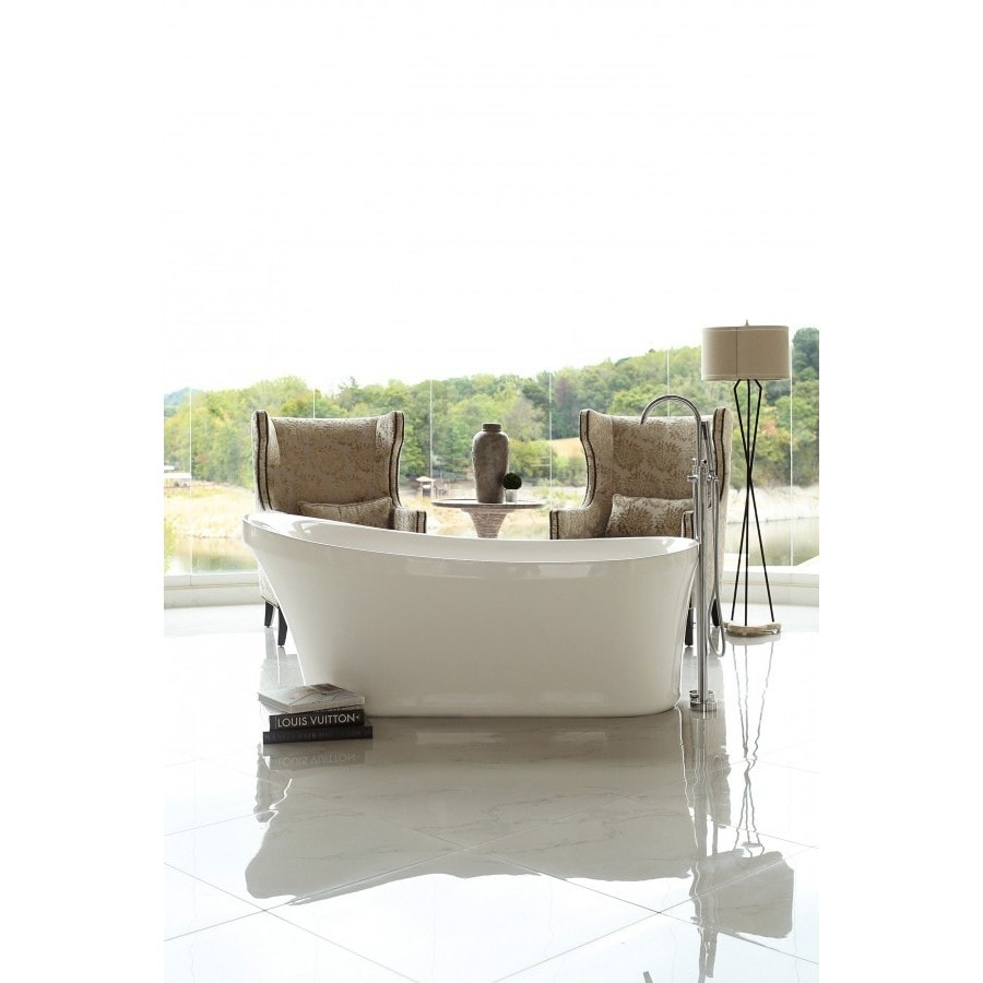 Signature Bath Calm Acrylic 67-inch Freestanding Bathtub - Free Shipping  Today - Overstock.com - 18933511