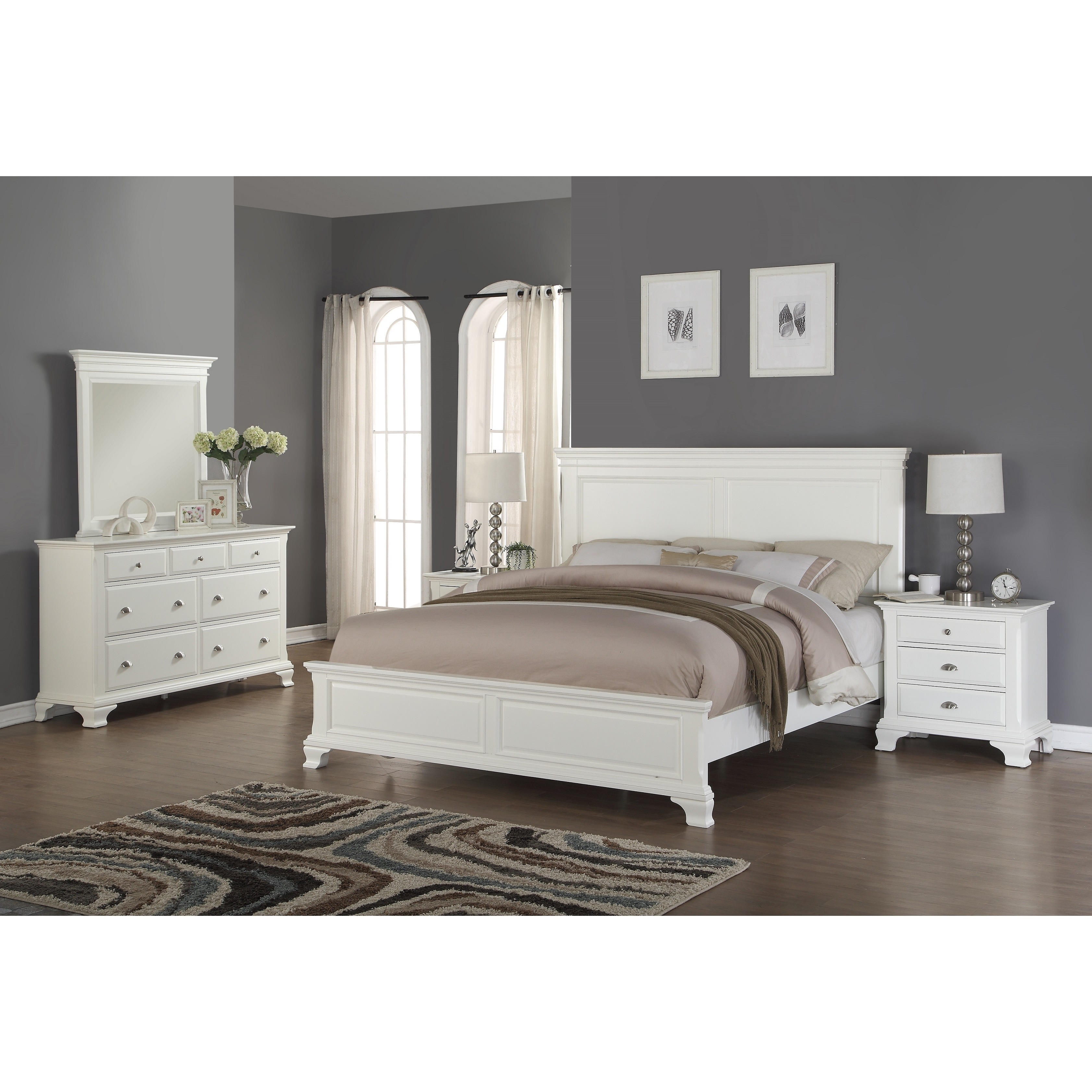 Shop Laveno 012 White Wood Bedroom Furniture