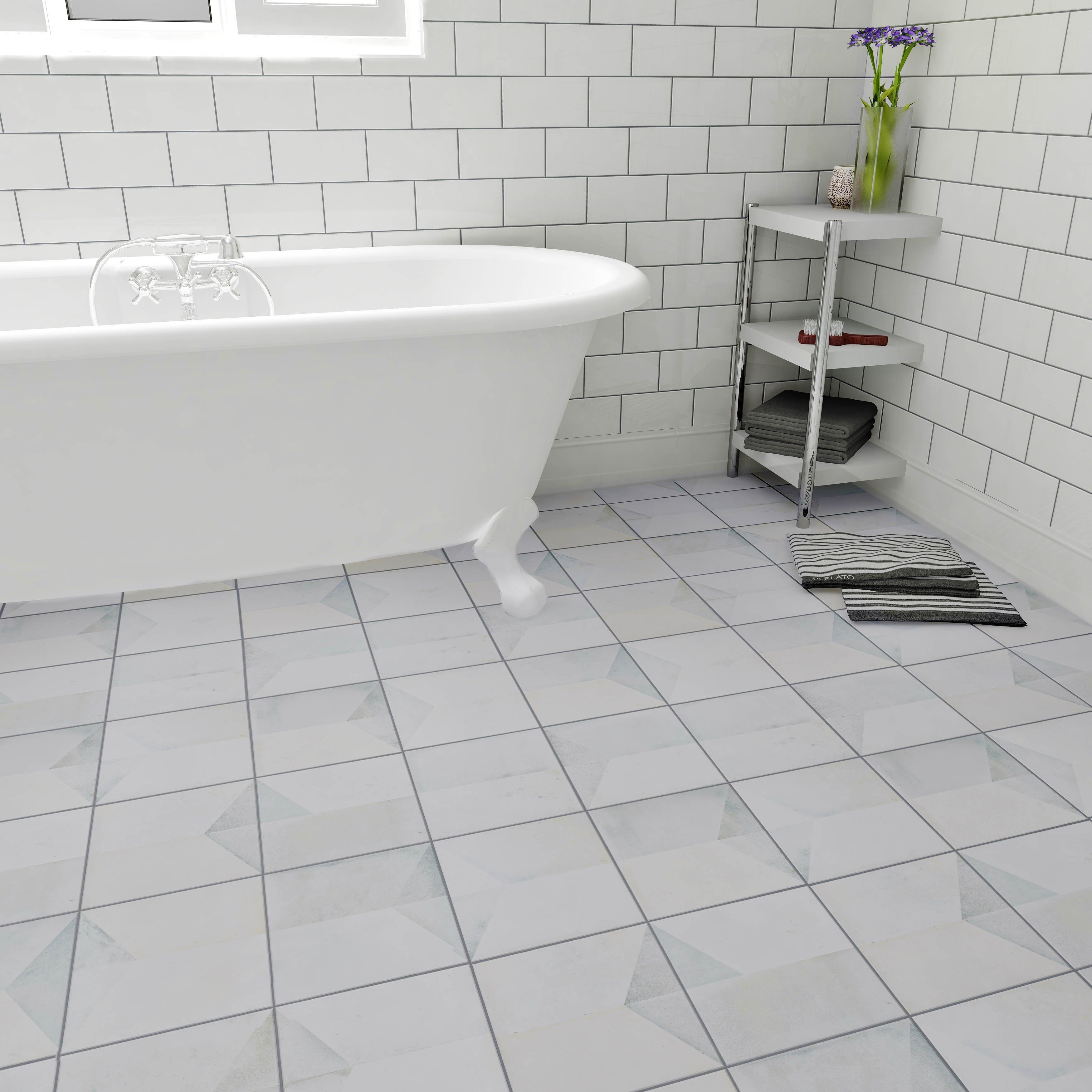 SomerTile 17.625x17.625-inch Geomenta Ceramic Floor and Wall Tile (5 ...