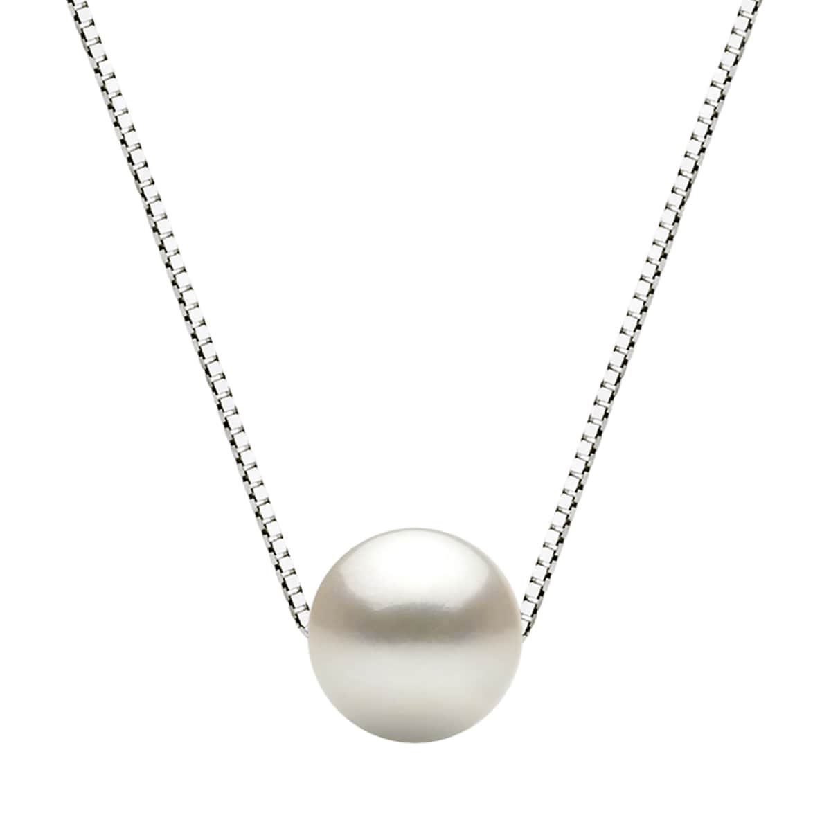 Davonna sterling silver box chain with 11 12mm white round davonna sterling silver box chain with 11 12mm white round freshwater pearl pendant necklace 18 free shipping today overstock 18933658 mozeypictures Gallery