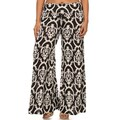 MOA Collection Women's Polyester and Spandex Plus Size Floral Motif Pants