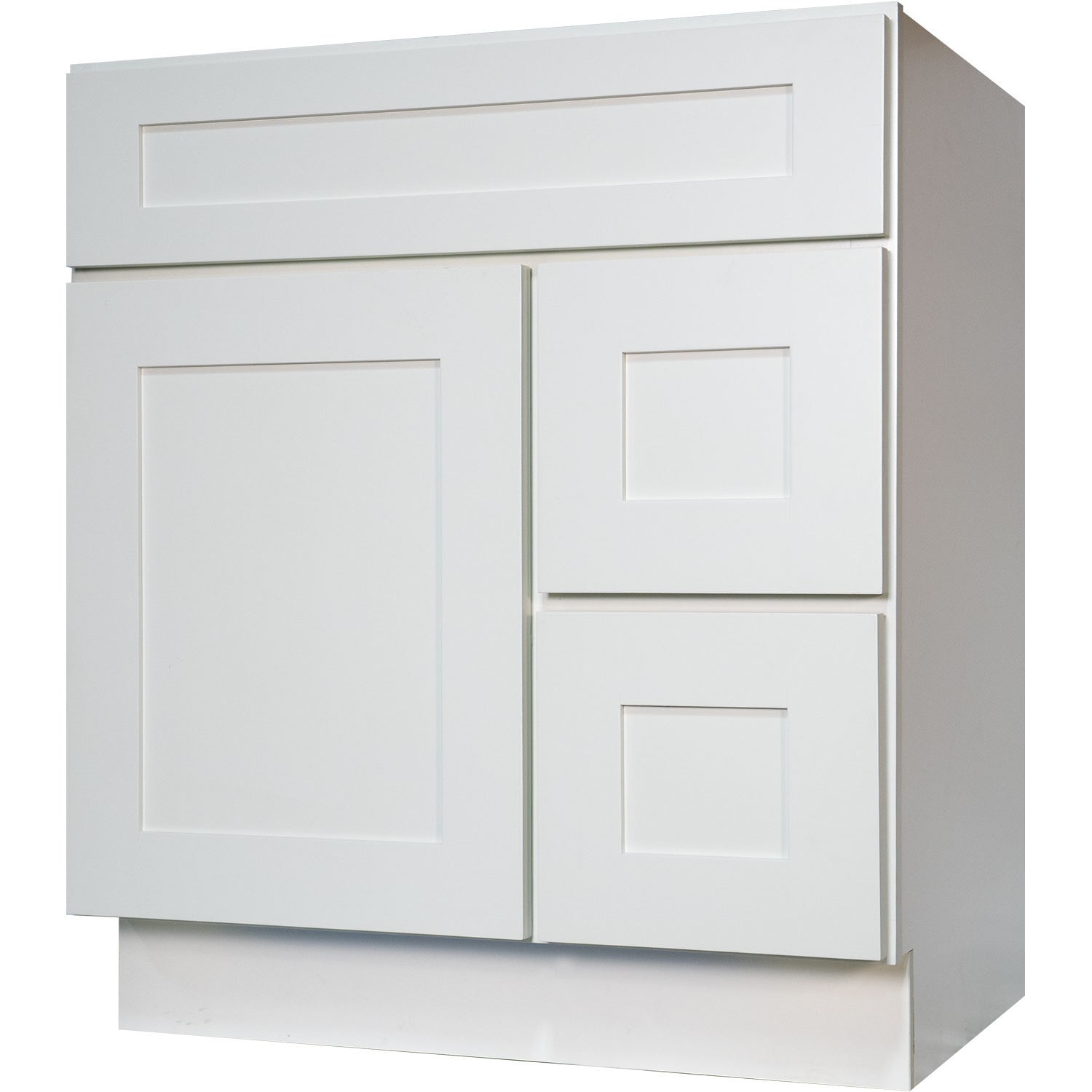 Shop Everyday Cabinets Shaker White Wood 30-inch Single Sink ...