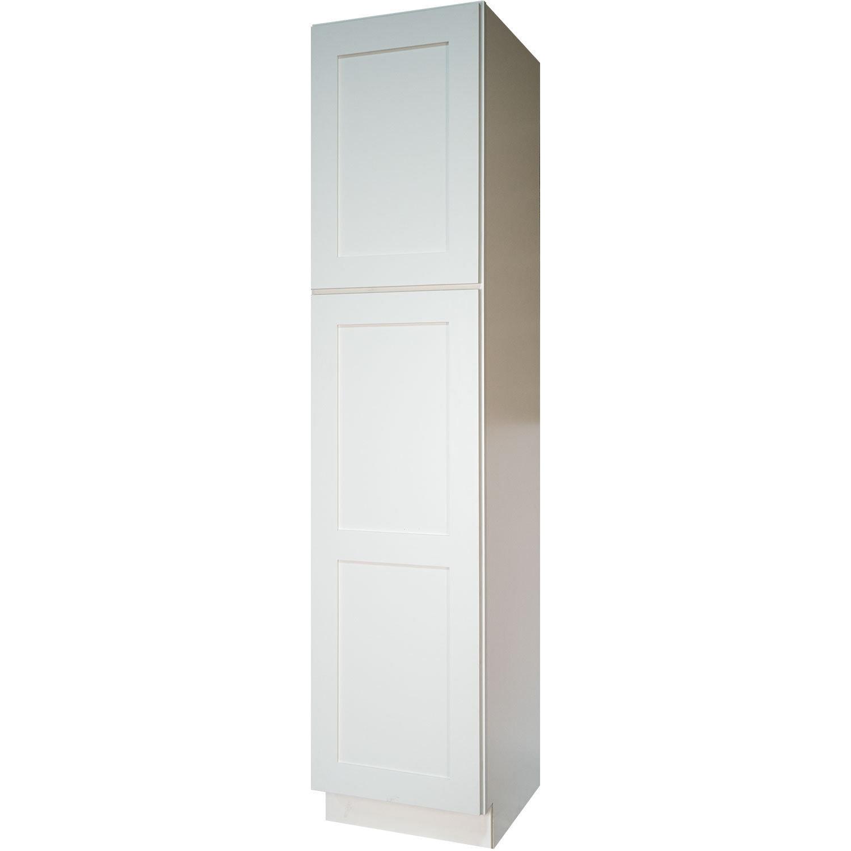 Shop Everyday Cabinets Shaker White Wood 18-inch Bathroom Vanity ...