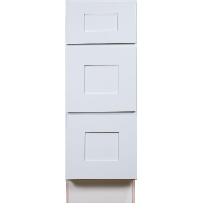 Shop White Wood 18-inch Shaker Bathroom Vanity Drawer Base Cabinet ...