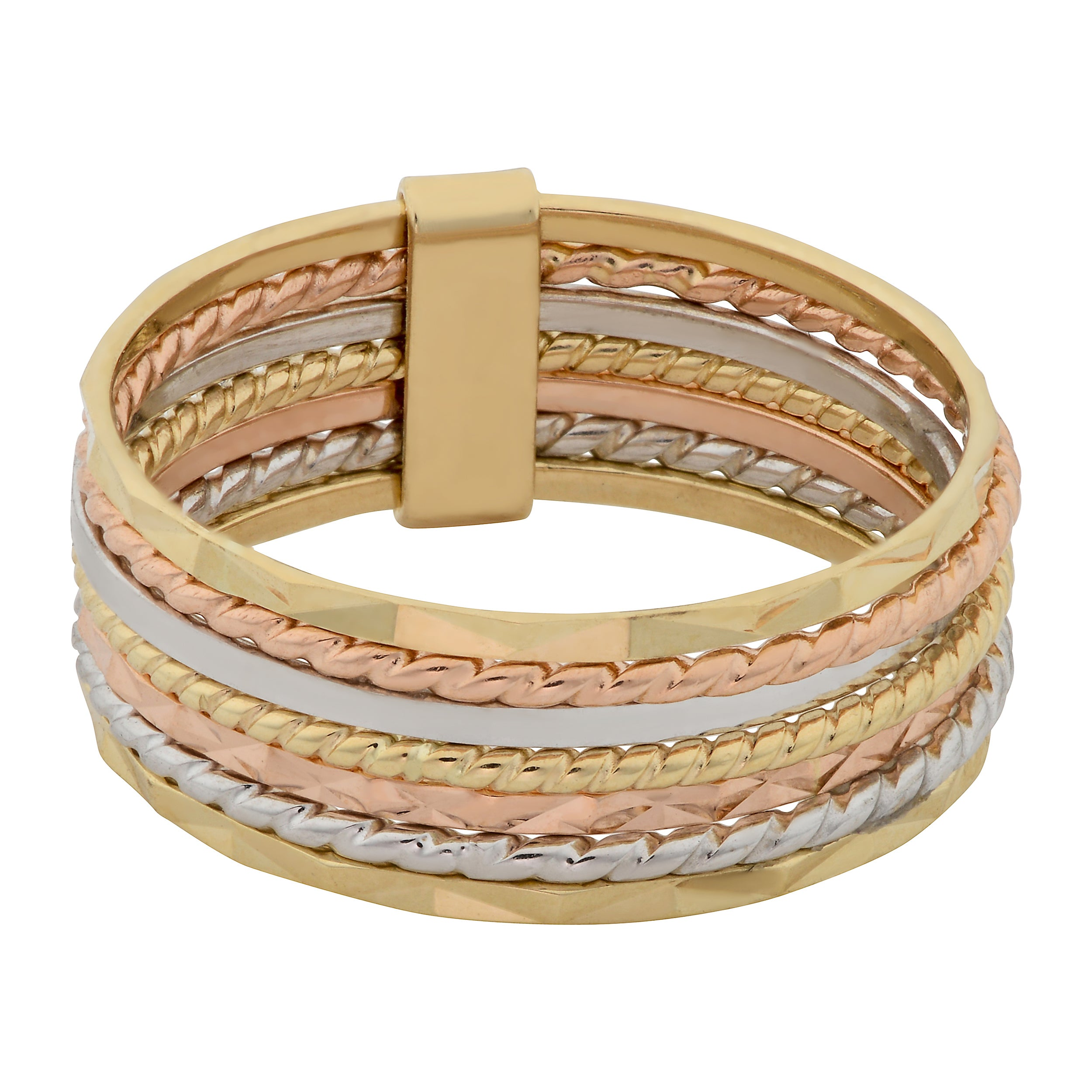 com rings colored gold tri bands cp walmart