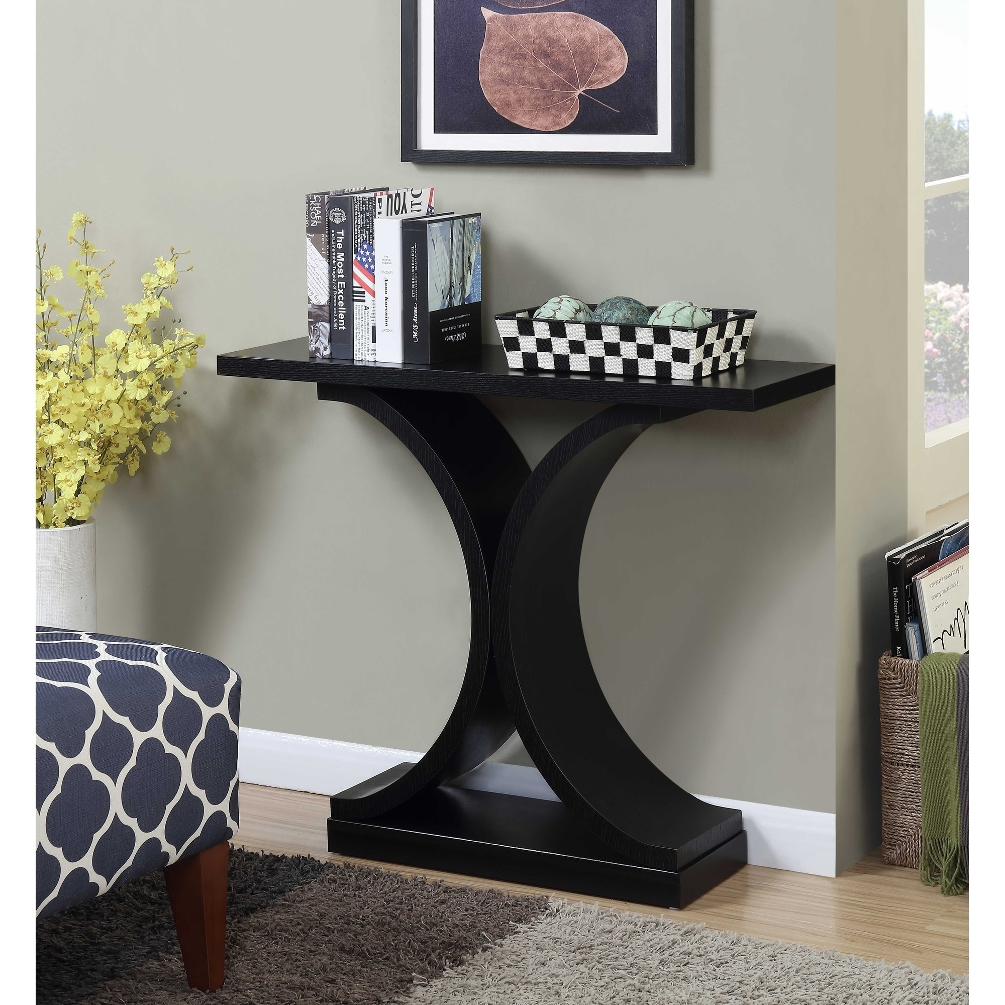 Shop Convenience Concepts Newport Infinity Console Table   Free Shipping  Today   Overstock.com   20528631