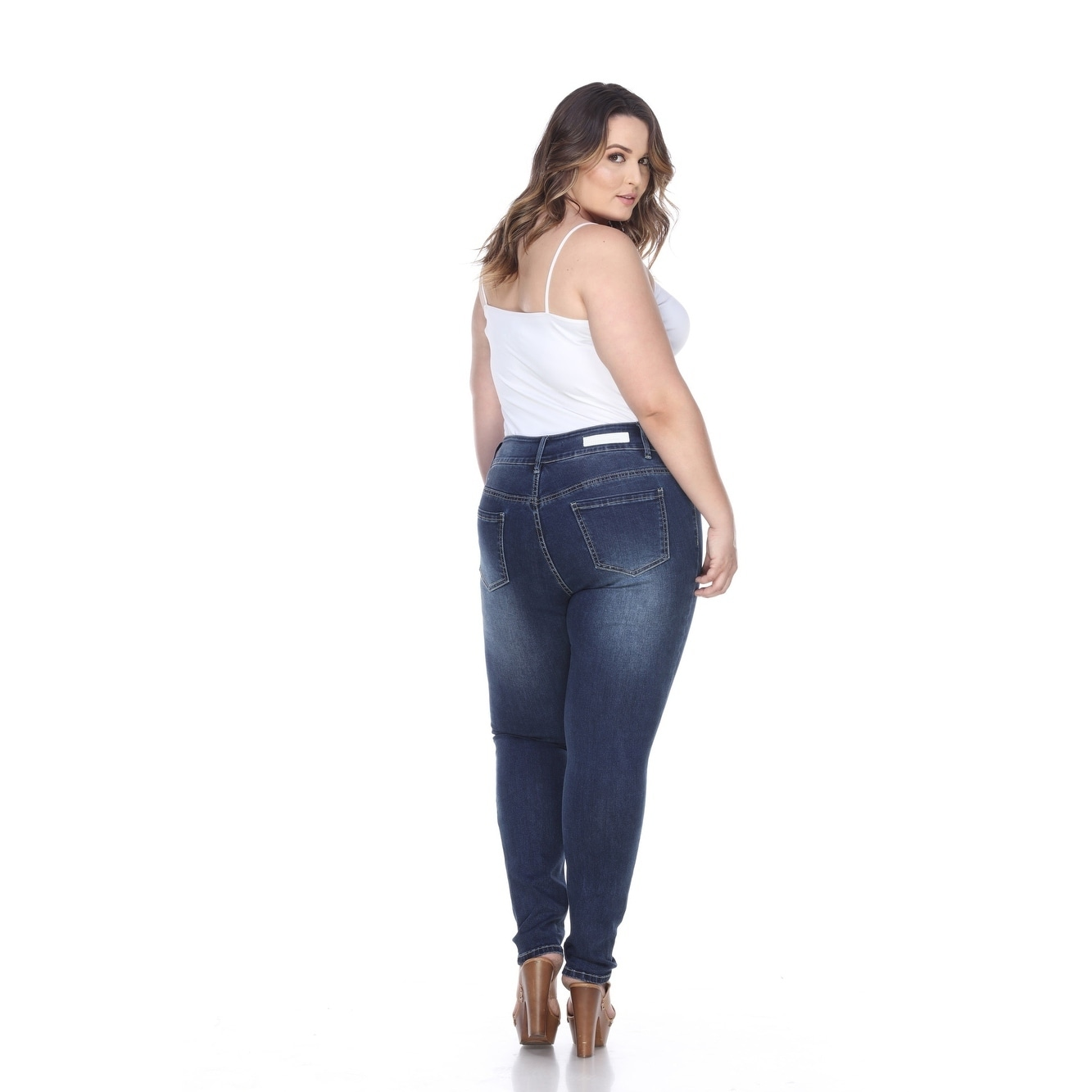 31d2eff02 Shop White Mark Women's Plus Size Super Stretch Denim Jean - On Sale - Free  Shipping Today - Overstock - 12070434