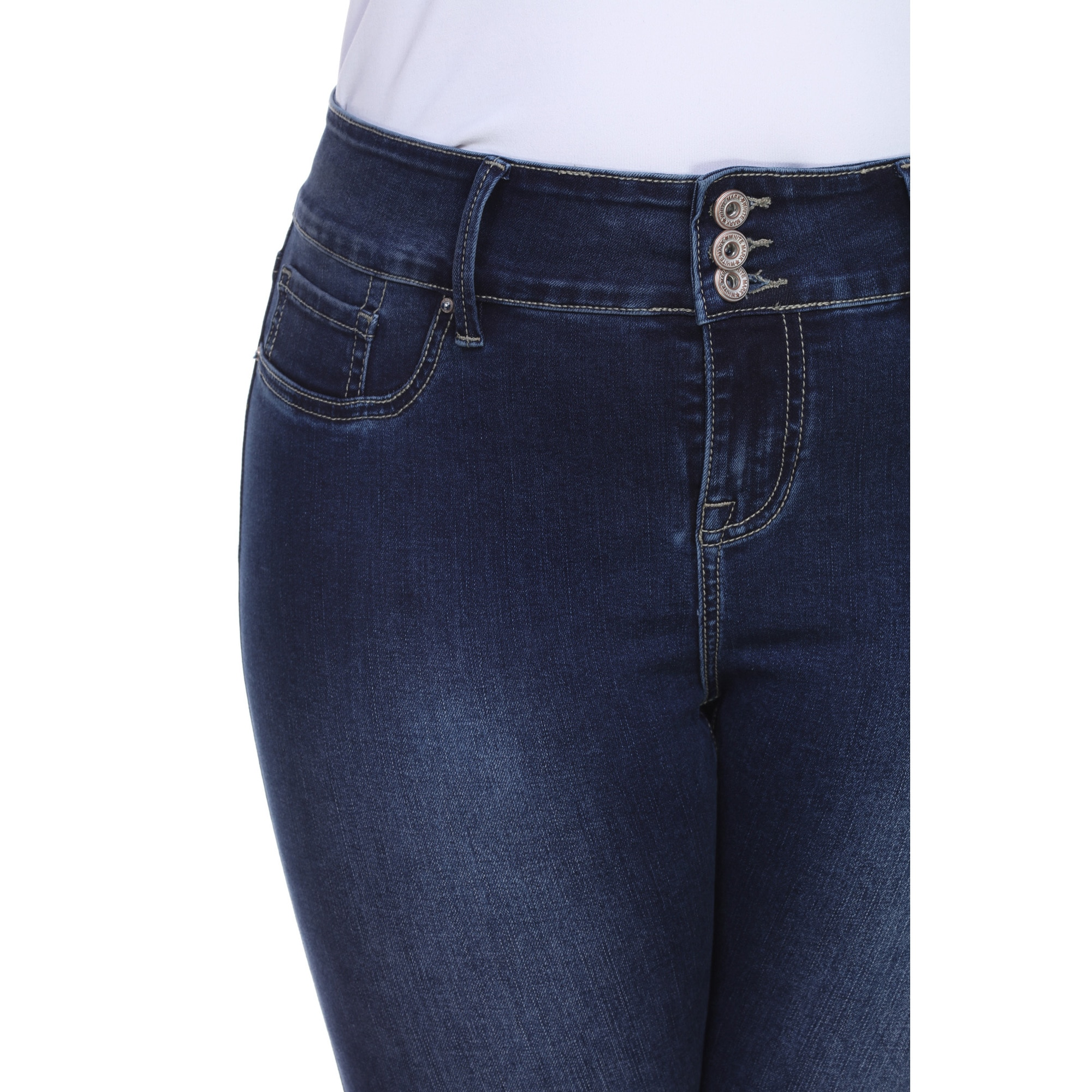 77f8fec30c0 Shop White Mark Women s Plus Size Super Stretch Denim Jean - On Sale - Free  Shipping Today - Overstock - 12070434