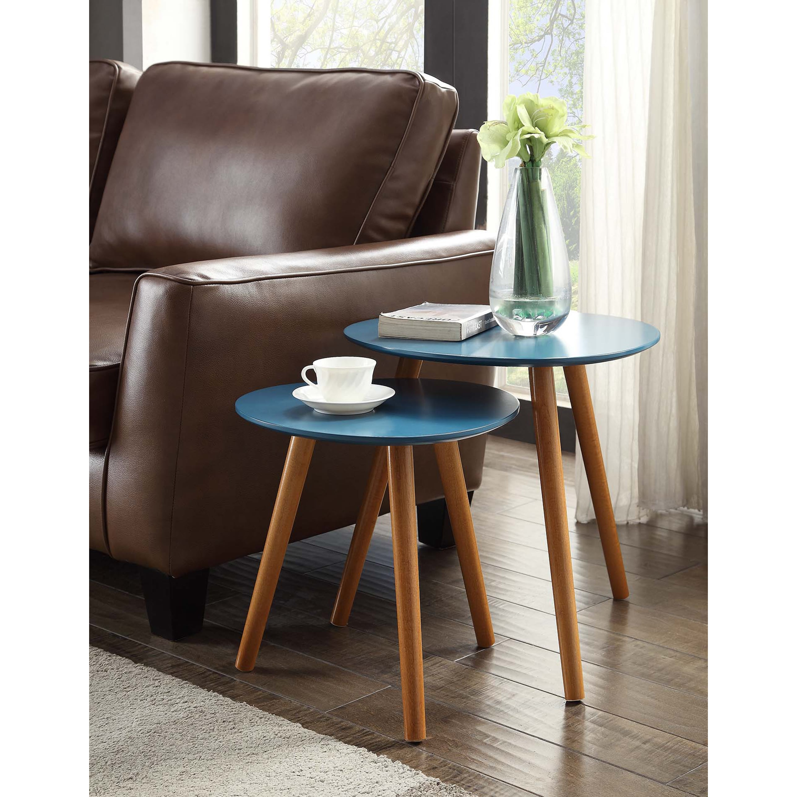 Convenience Concepts Oslo Nesting End Table Set Free Shipping