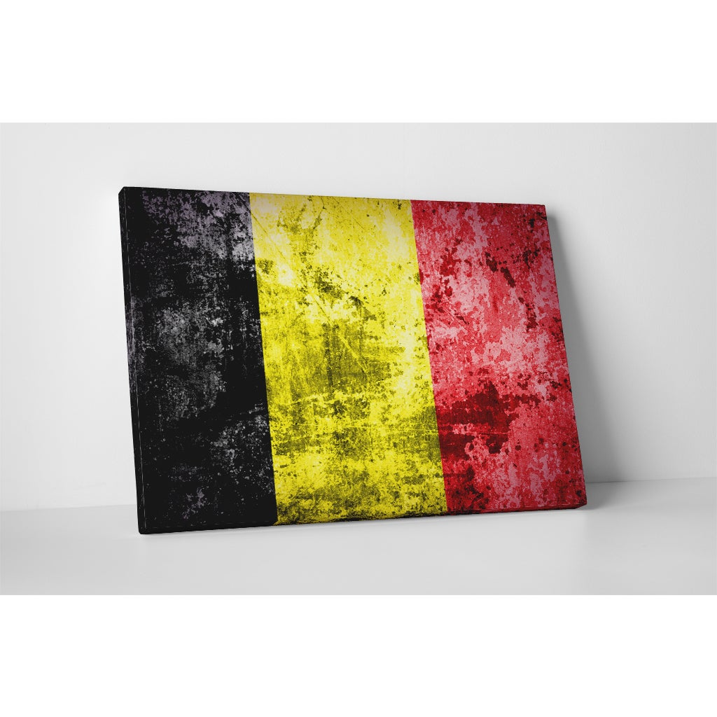 Shop Flags \'Vintage Belgium Flag\' Gallery-wrapped Canvas Wall Art ...