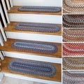 "Augusta Wool Reversible Stair Treads - 8"" x 28"" Oval"