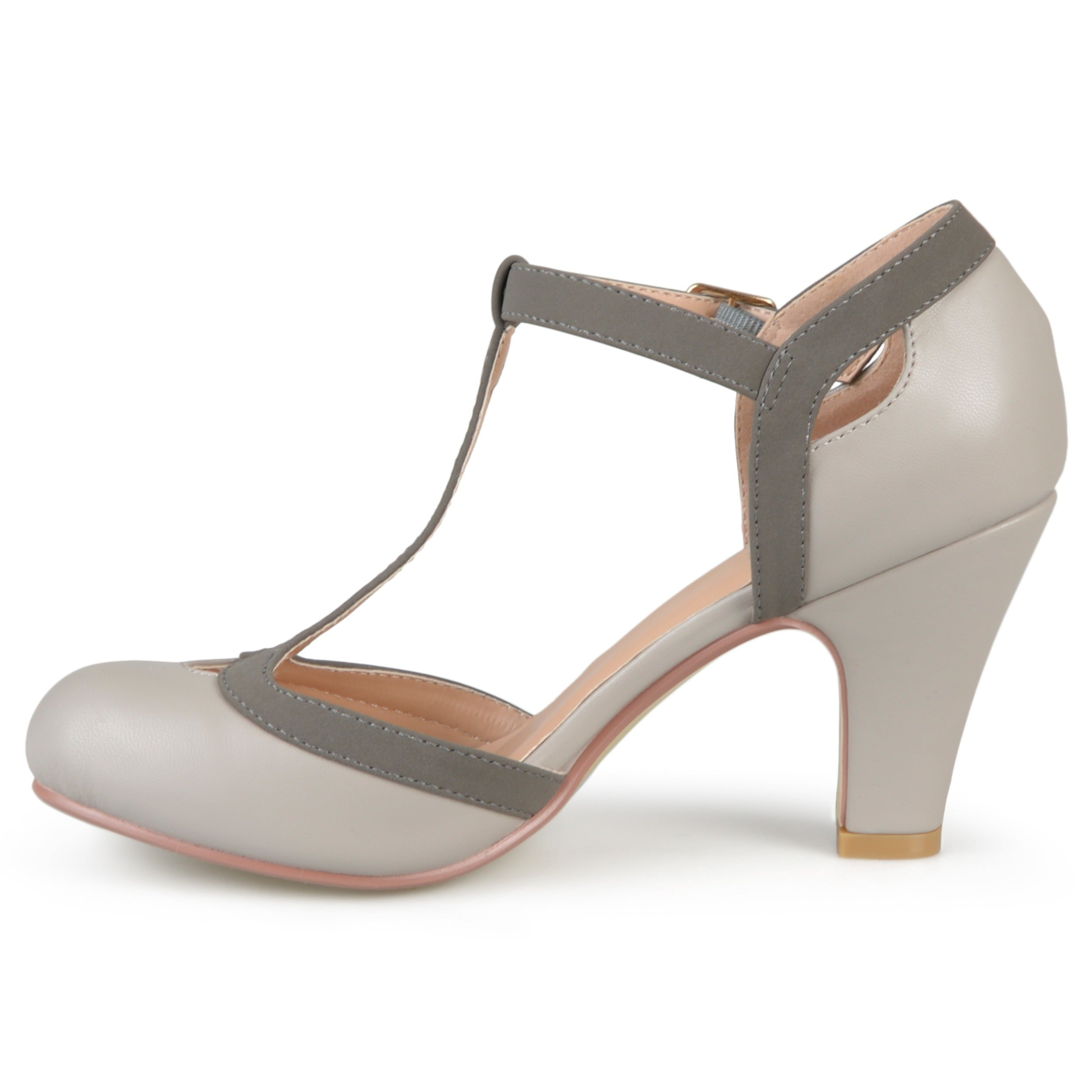 7ce8c5c8b Shop Journee Collection Women's 'Olina' T-strap Round Toe Mary Jane Pumps - Free  Shipping On Orders Over $45 - Overstock - 12073916