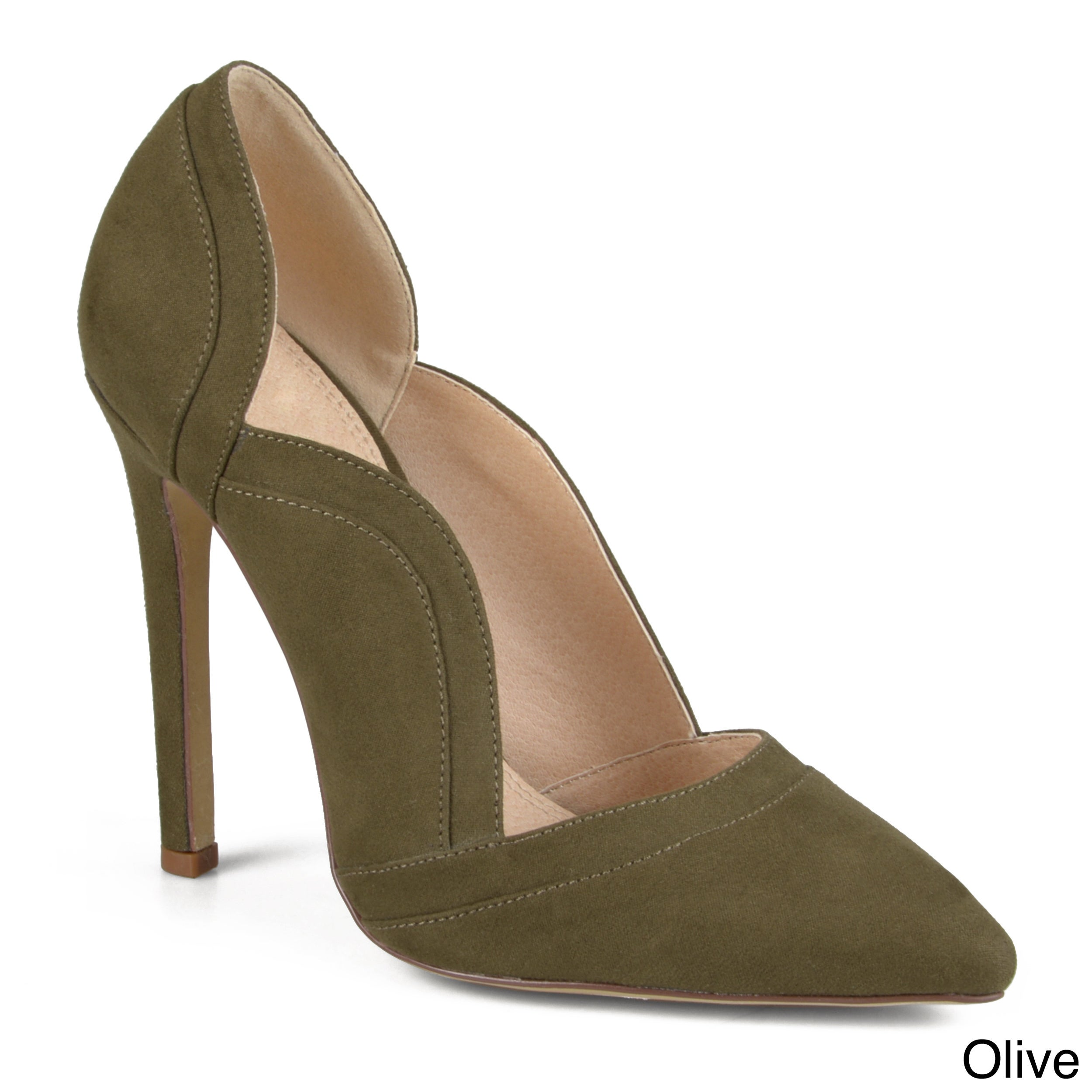 f37940d0b32 Shop Journee Collection Women s  Adley  Faux Suede Scalloped Pumps - Free  Shipping Today - Overstock - 12073918