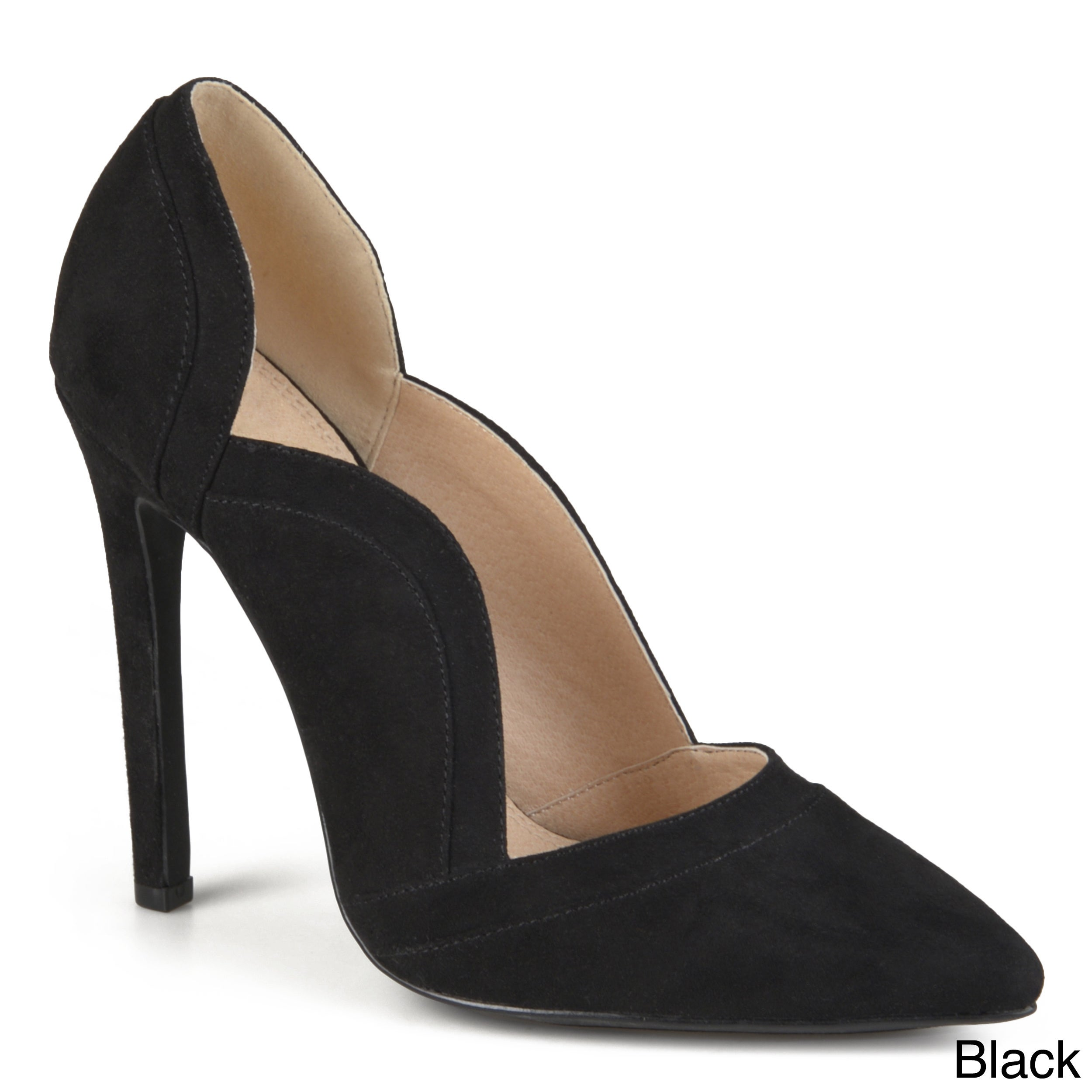 9eaba9f5a63 Shop Journee Collection Women s  Adley  Faux Suede Scalloped Pumps - Free  Shipping Today - Overstock - 12073918