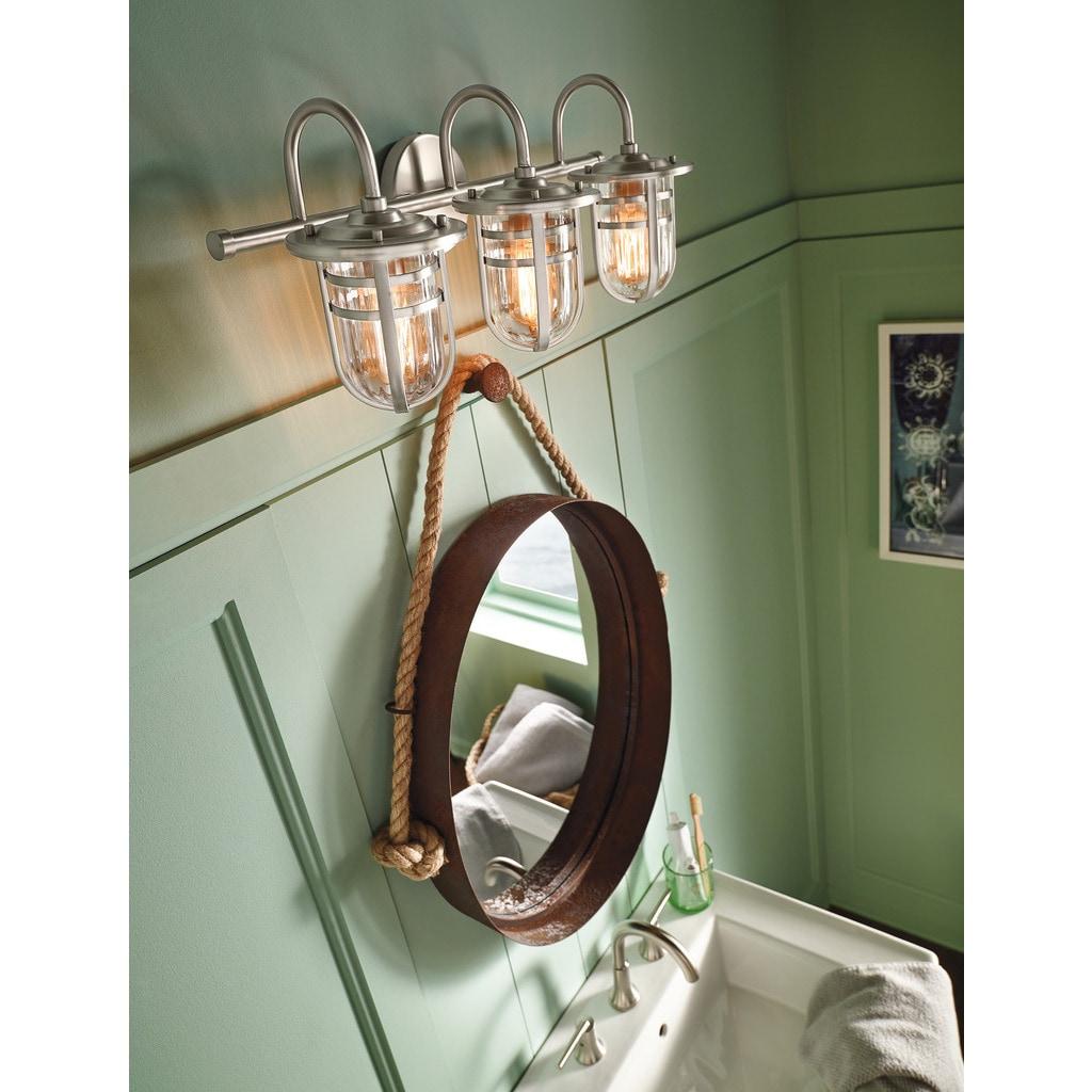 Shop Kichler Lighting Caparros Collection 3-light Brushed Nickel ...