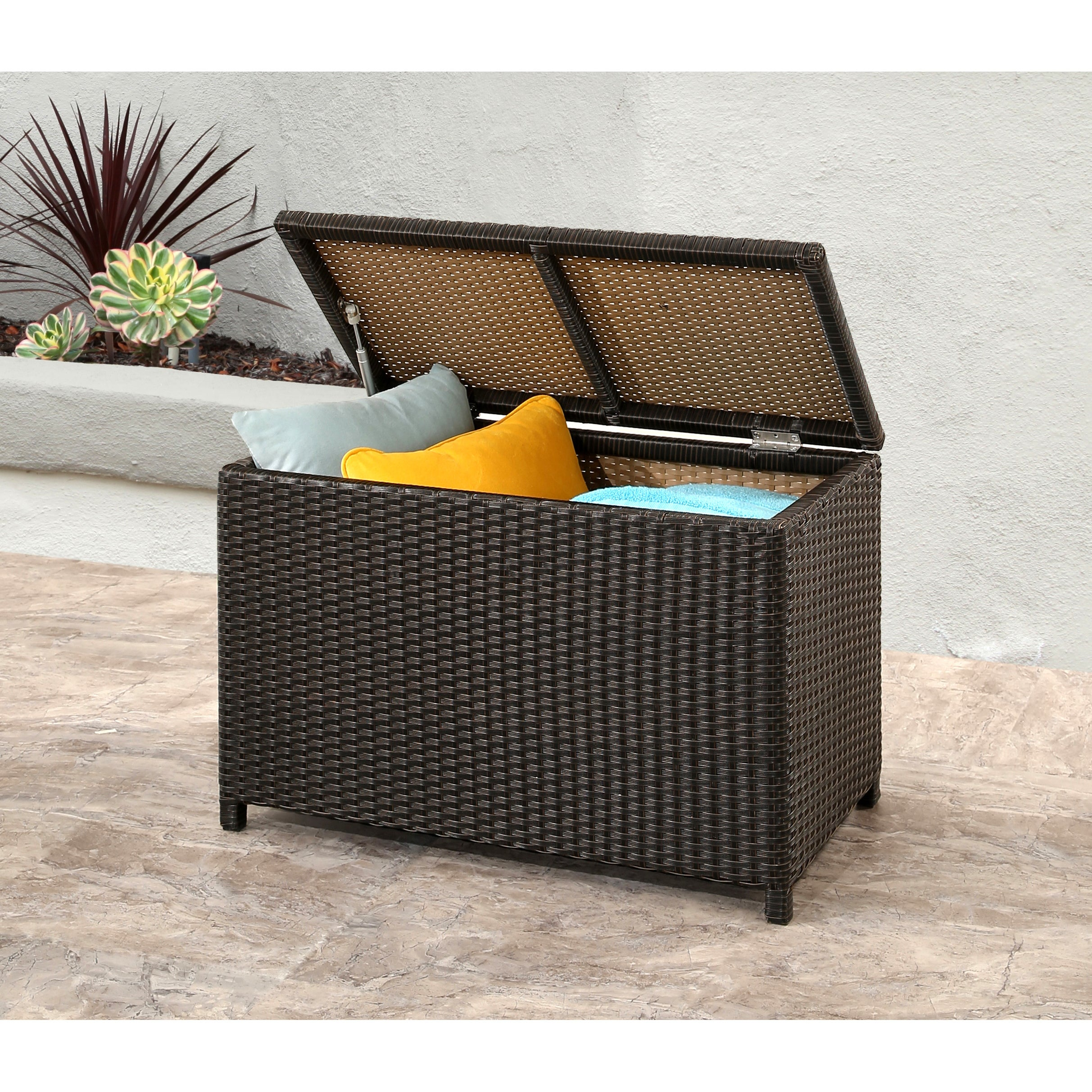 Shop Abbyson Provence Outdoor Storage Ottoman   Free Shipping Today    Overstock.com   12074680