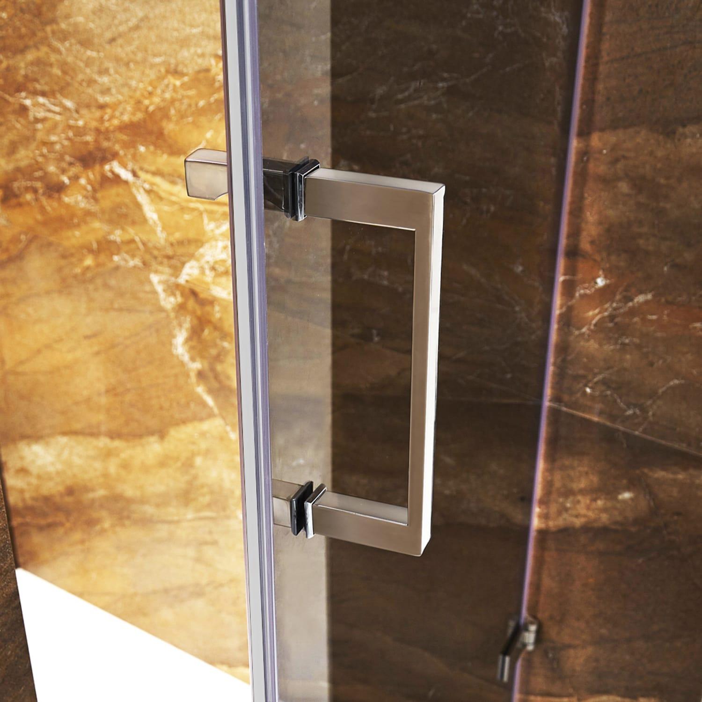 VIGO SoHo 28-inch Adjustable Frameless Shower Door with Sheer Black ...