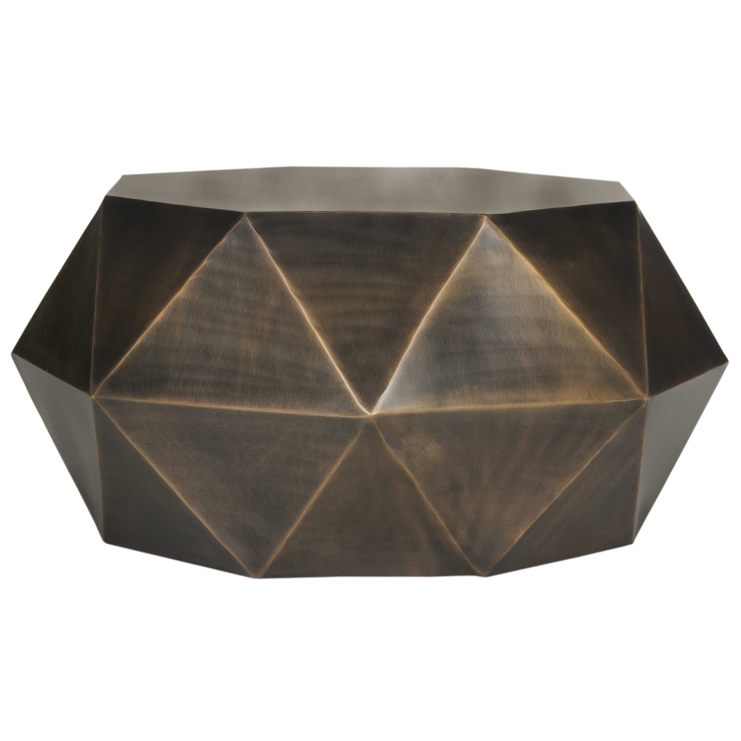 Shop Safavieh Astrid Faceted Copper Coffee Table Free Shipping - Square copper coffee table