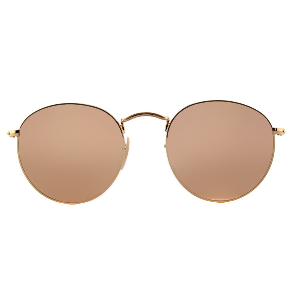 bbea3e04f3 Shop Ray-Ban Shiny Gold Metal Round Sunglasses with Pink Flat Flash Lens -  On Sale - Free Shipping Today - Overstock - 12078144