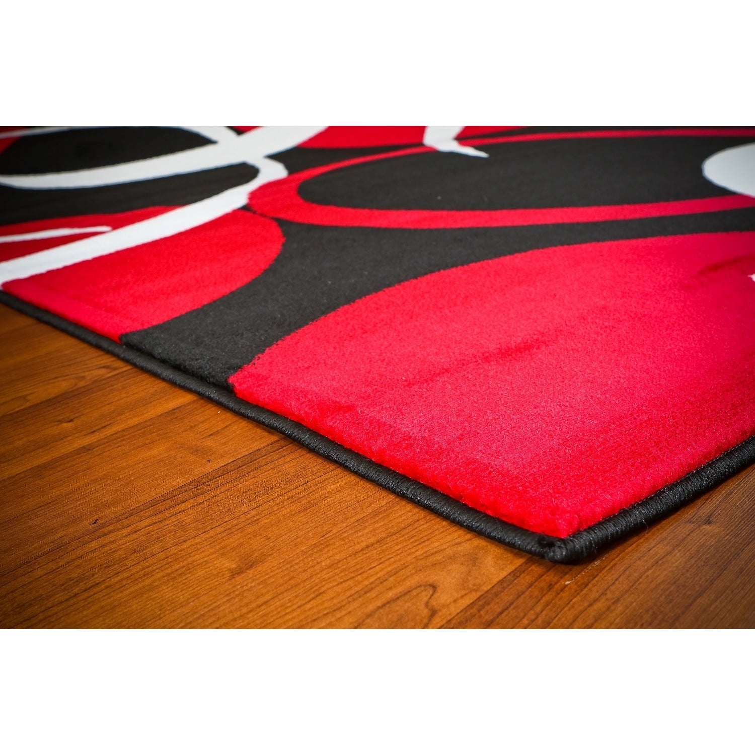 Persian Rugs Modern Trendz Red White Black Abstract Area Rug 7 10 X 6 On Free Shipping Today Com 12079218